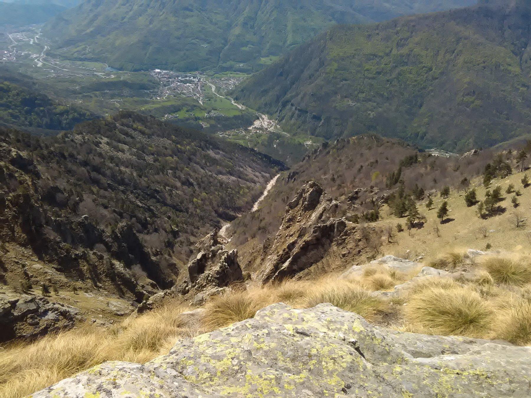 Il vallone di salita dall' alto