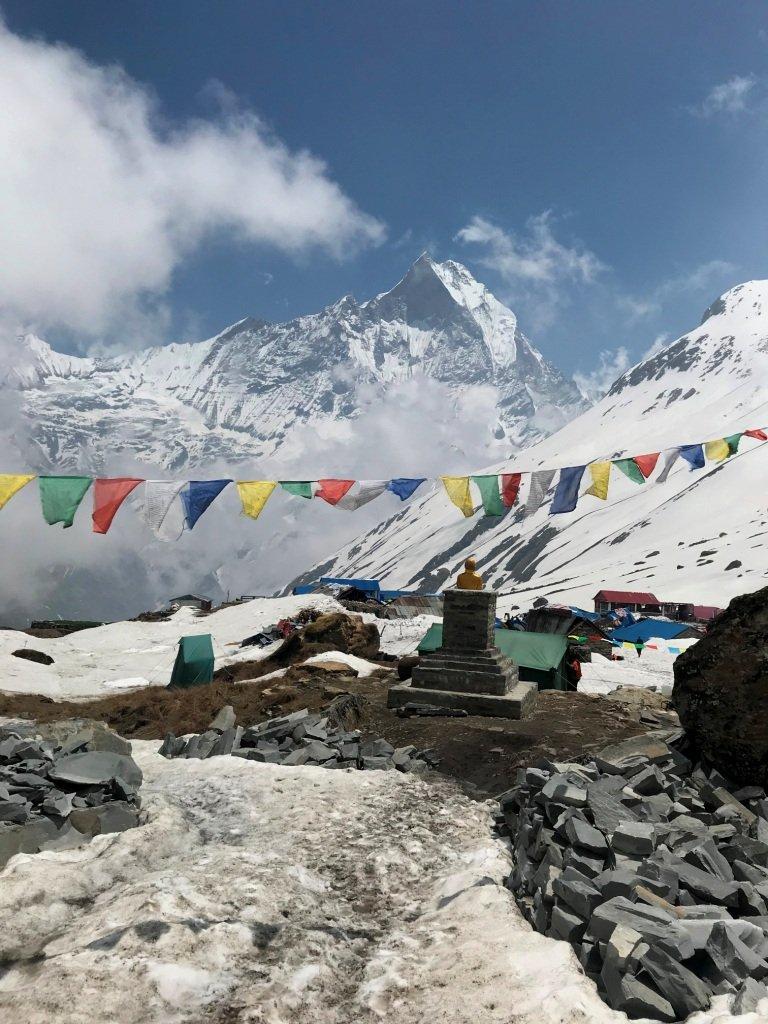 Machhapuchre dall' Annapurna Base Camp