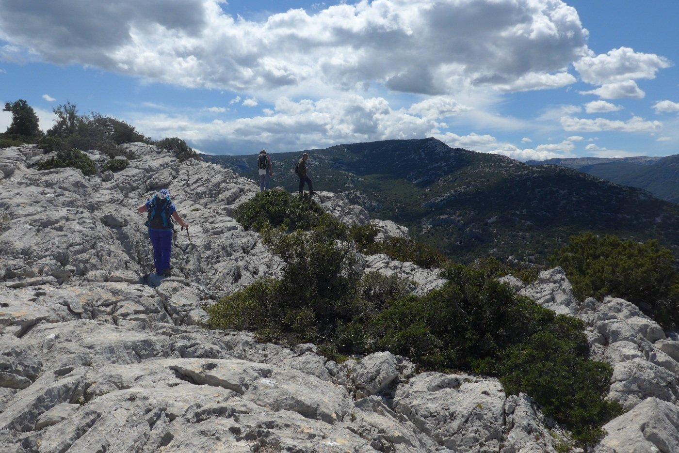 Arrivando in vetta al monte Onamarra