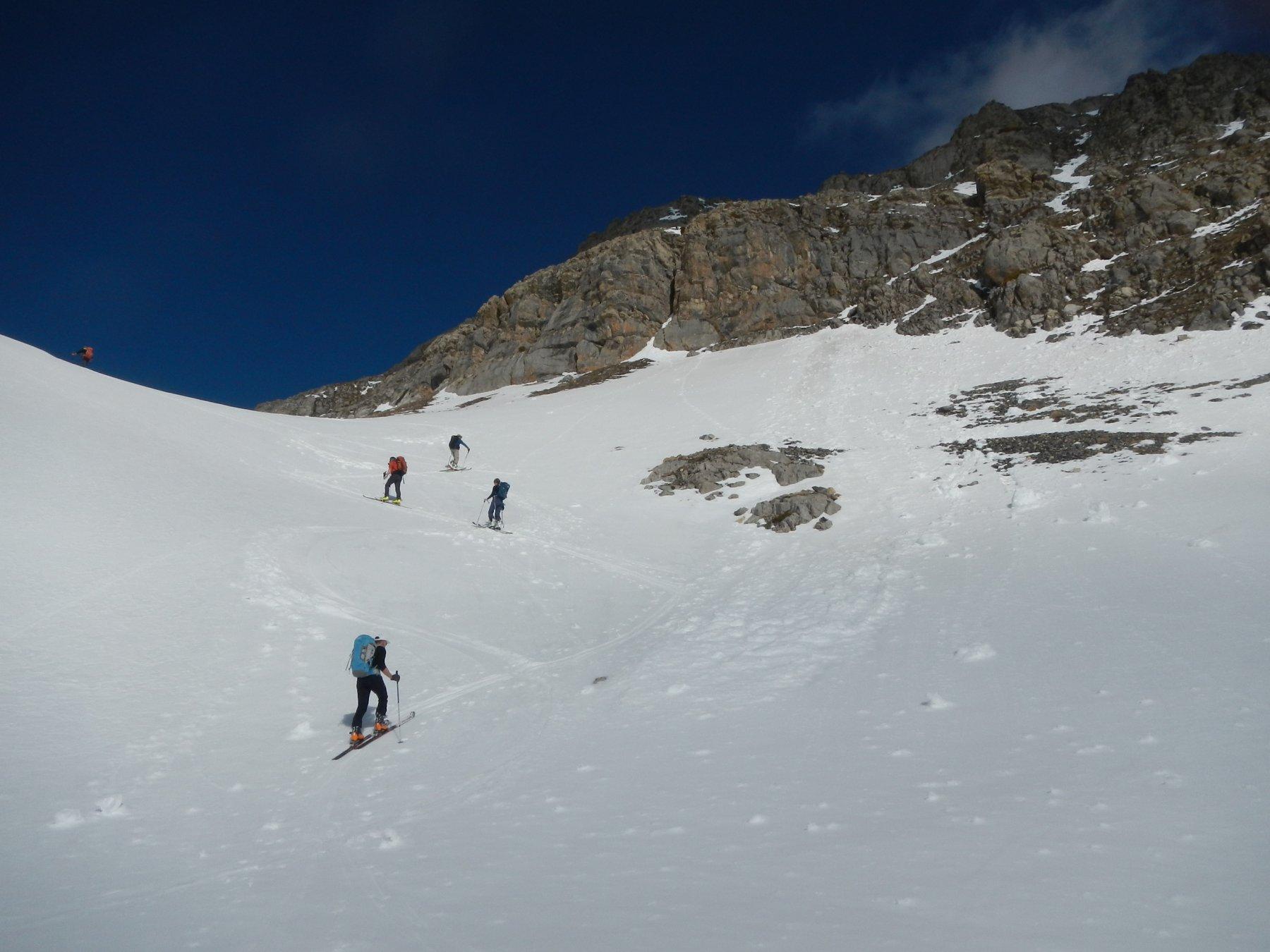 una bella serie di valloncelli e dossi verso il Colle quotato 2589 m.