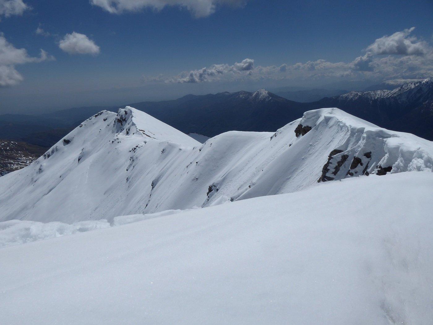 La cresta tra Cima di Crosa e M.te Roccenie vista da quest'ultimo.