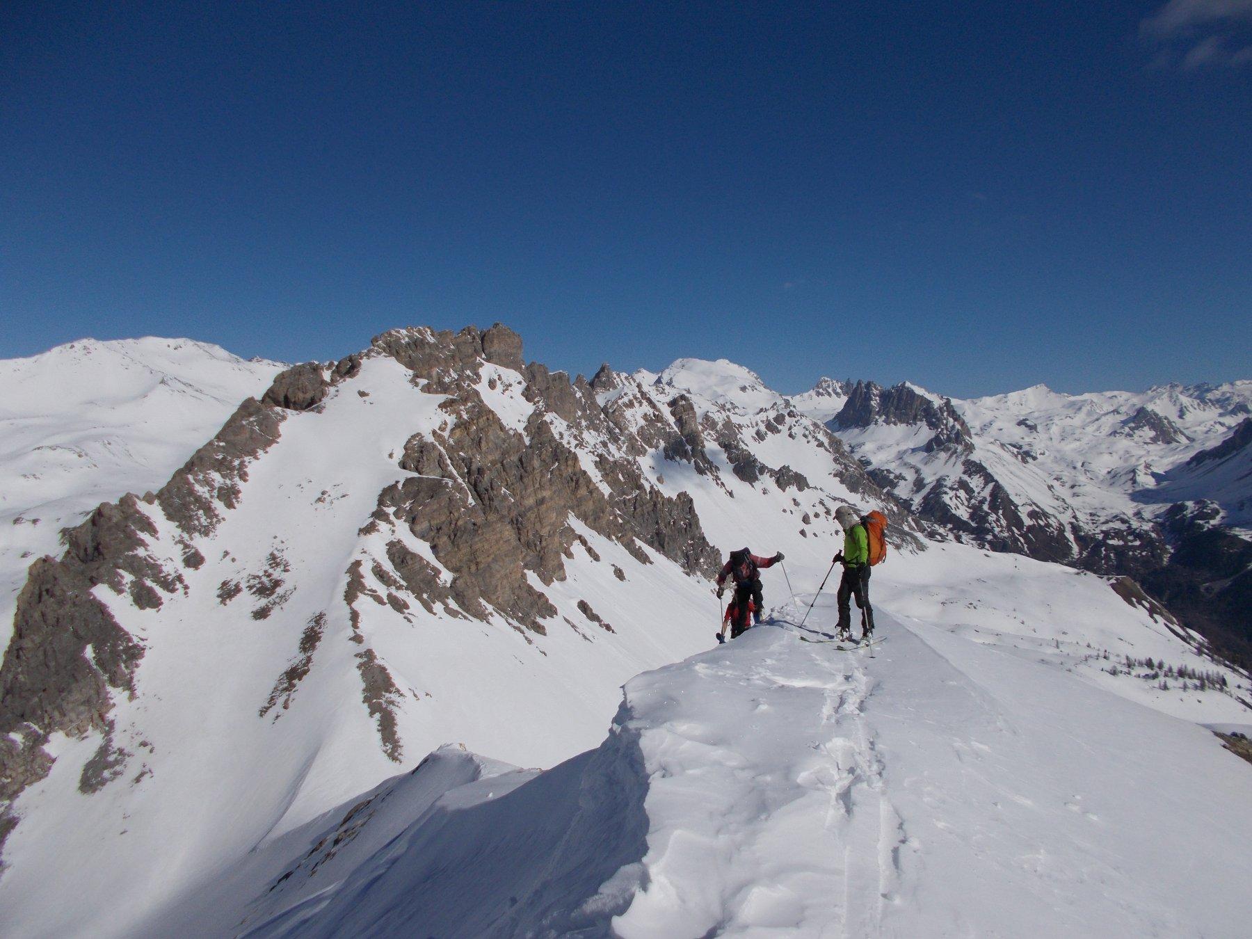 Cresta con la Roche Ronde alle spalle