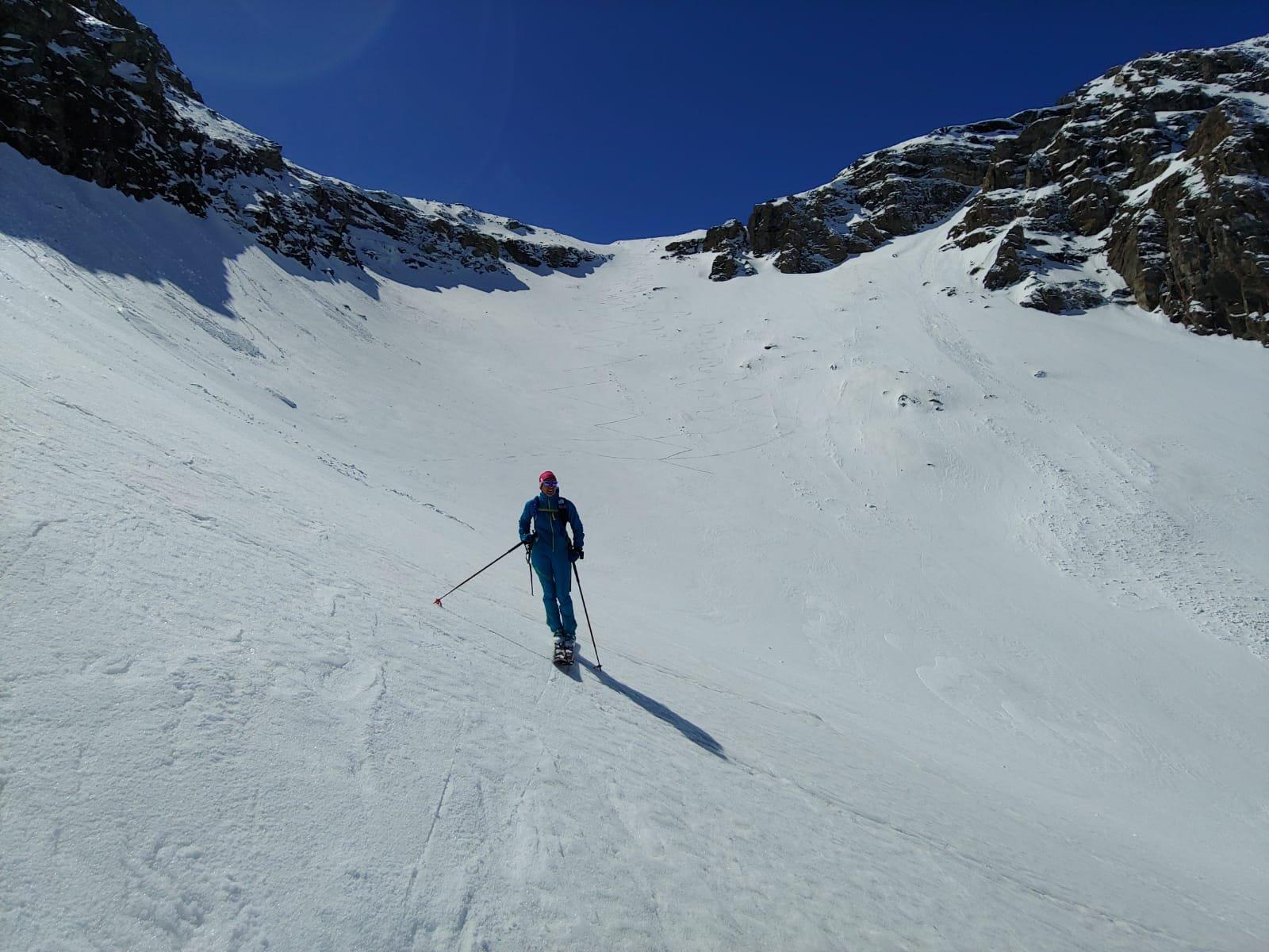 Parte ripida per raggiungere il ghiacciaio di Tos