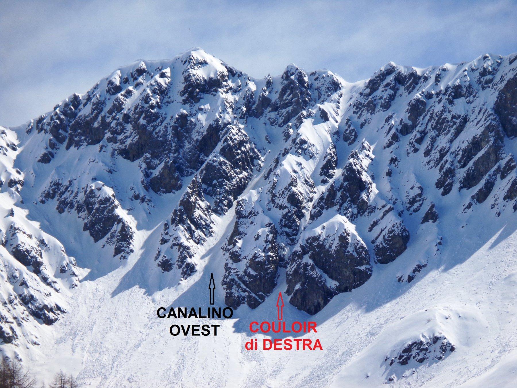 I due itinerari che percorrono il versante Ovest di Punta Loson