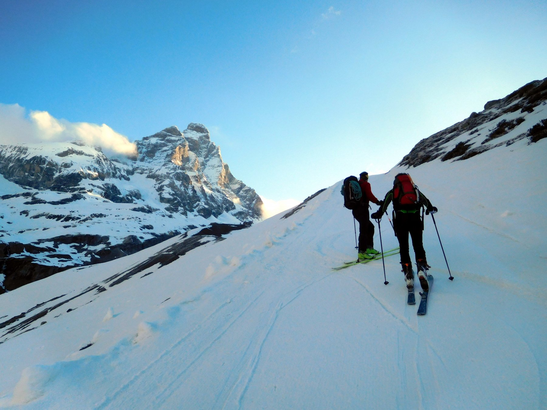 lungo la pista per ski alp