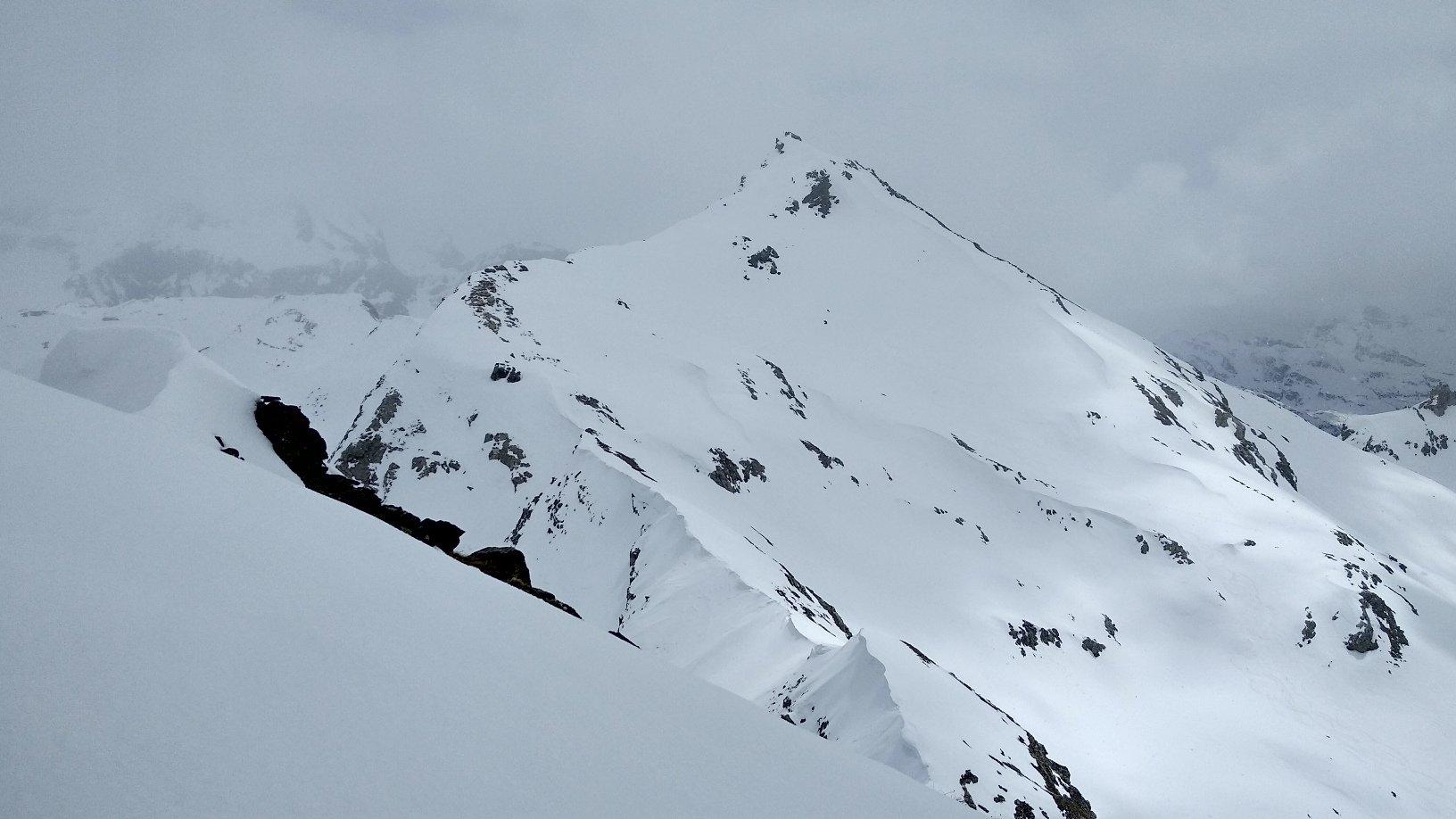 La G. Sometta vista dalla cima.