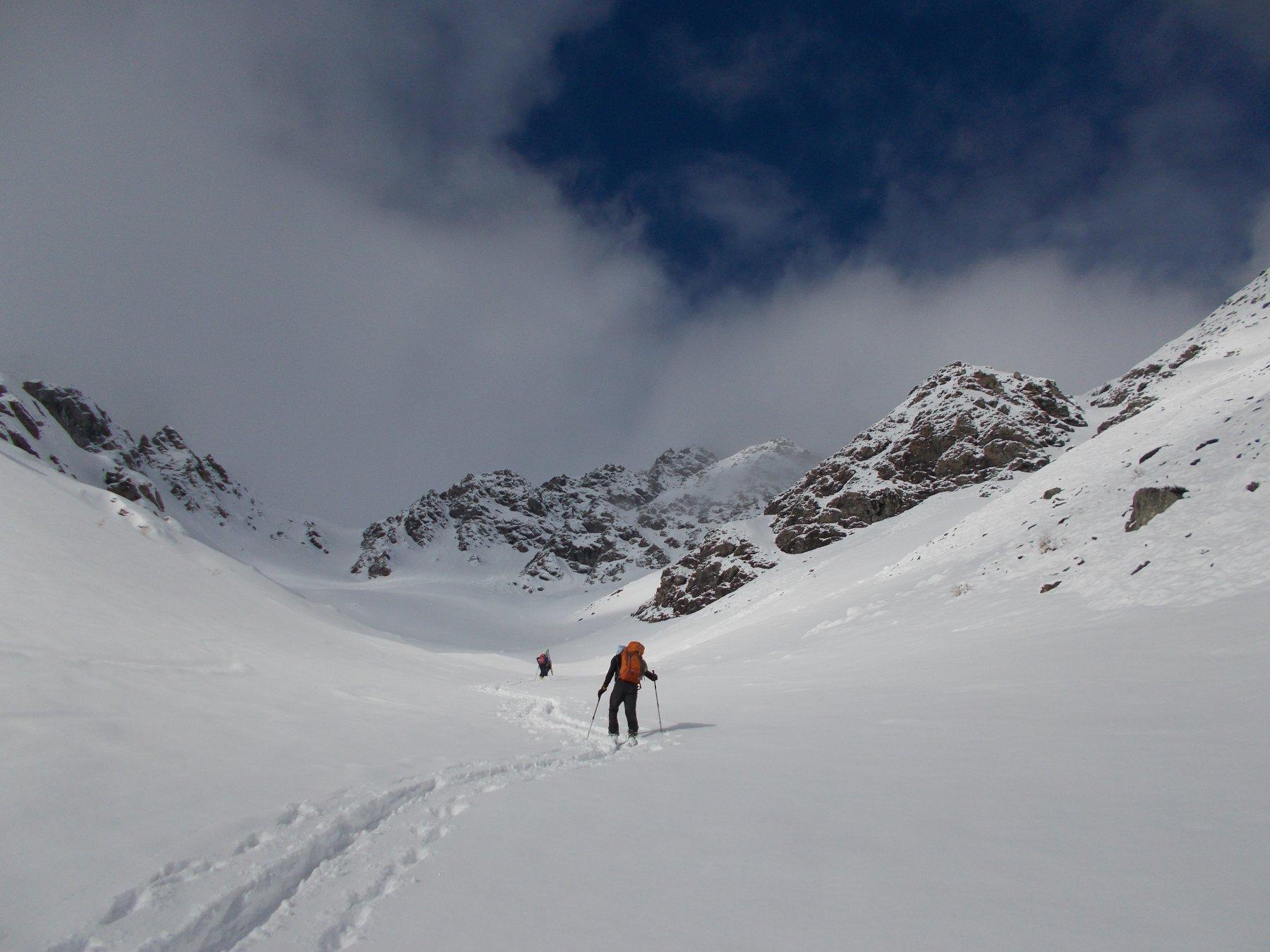 Pendii superiori, finalmente con gli sci