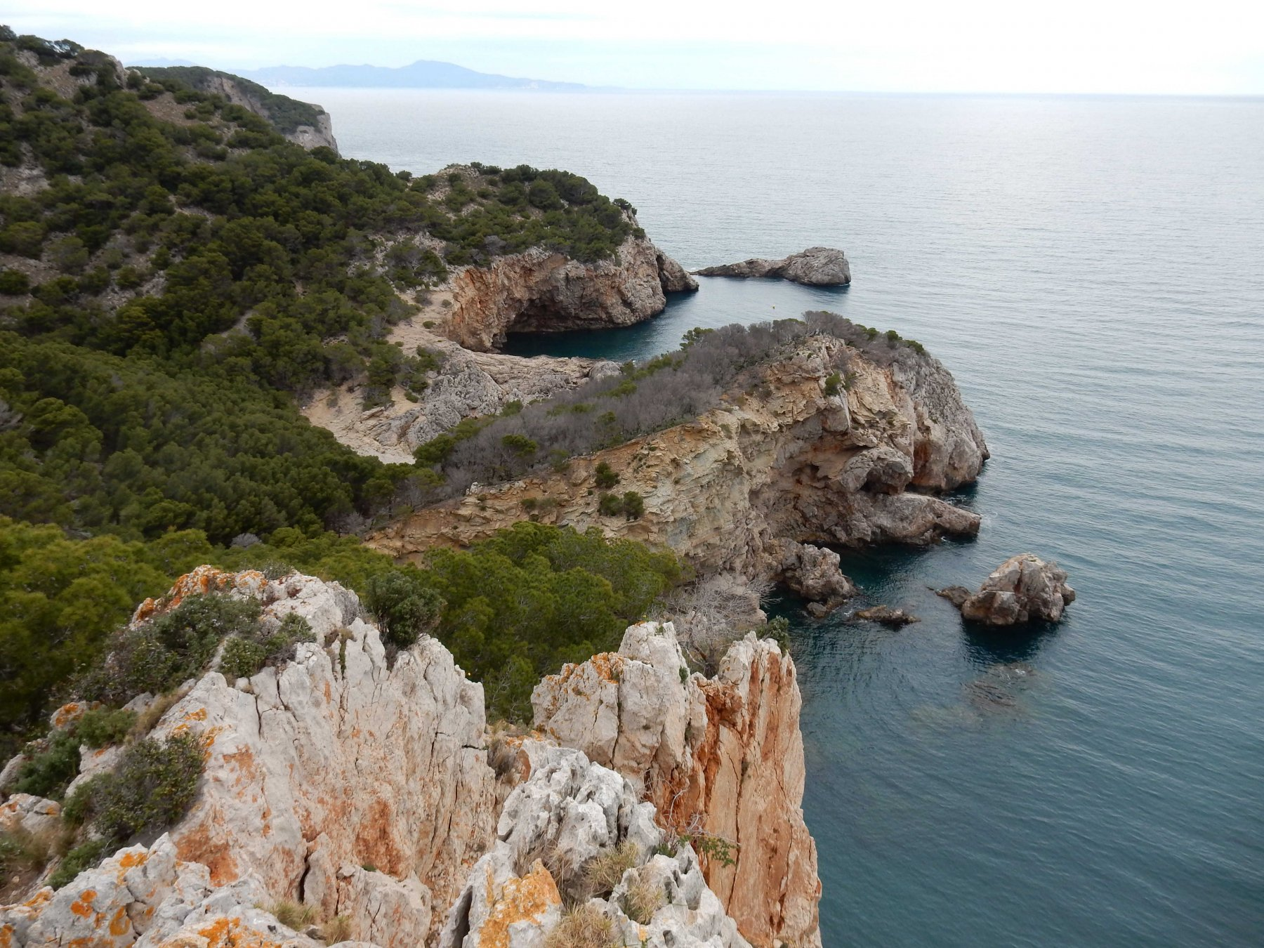 Panorama della costa verso la Trona.
