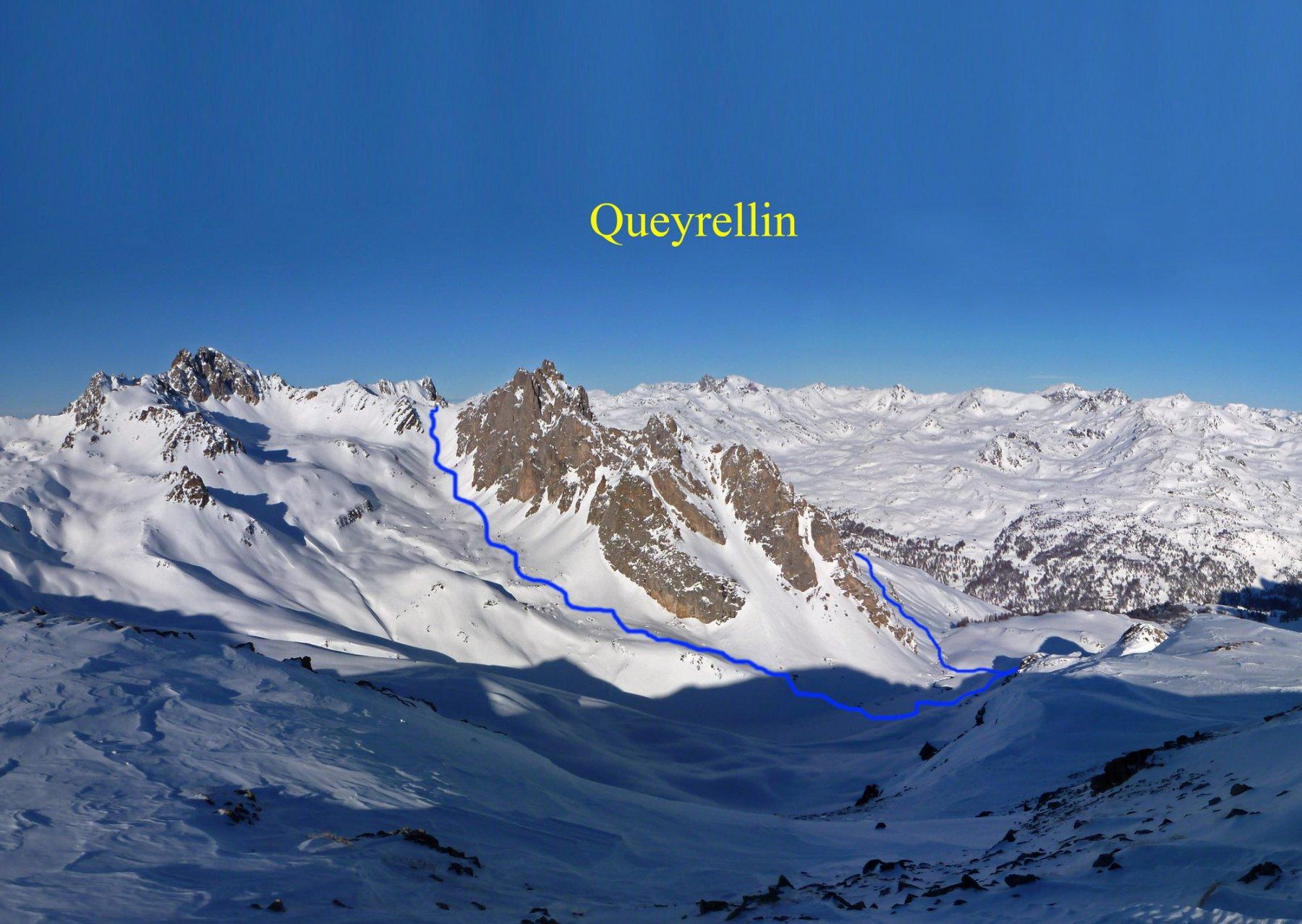 L'itinerario visto dal Pic Ombière
