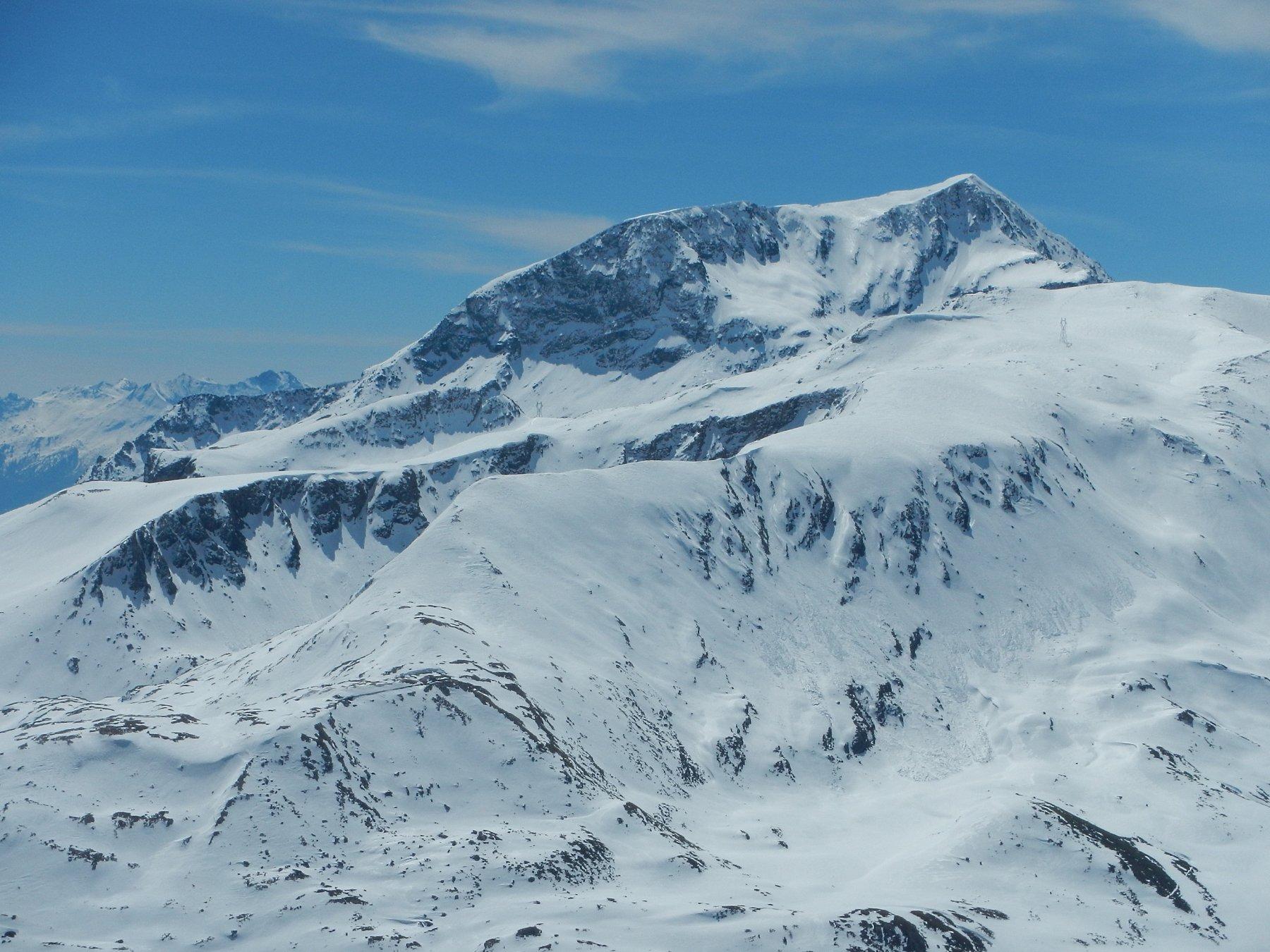 dal colle bella vista sui Monti Malamot e Giusalet