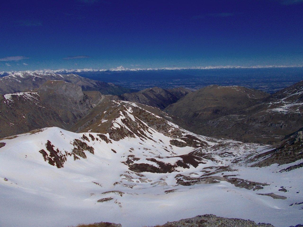 panorama sul versante nord