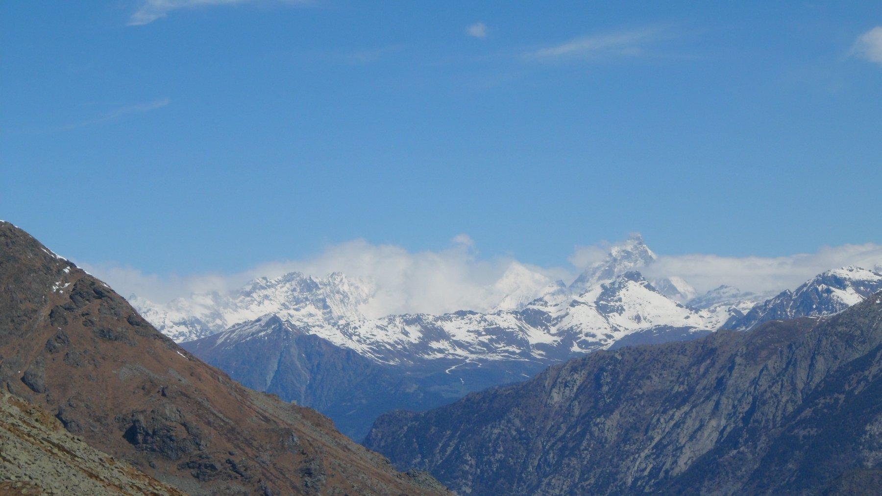 Il Cervino, dal sentiero di discesa poco sotto il monte Gregorio