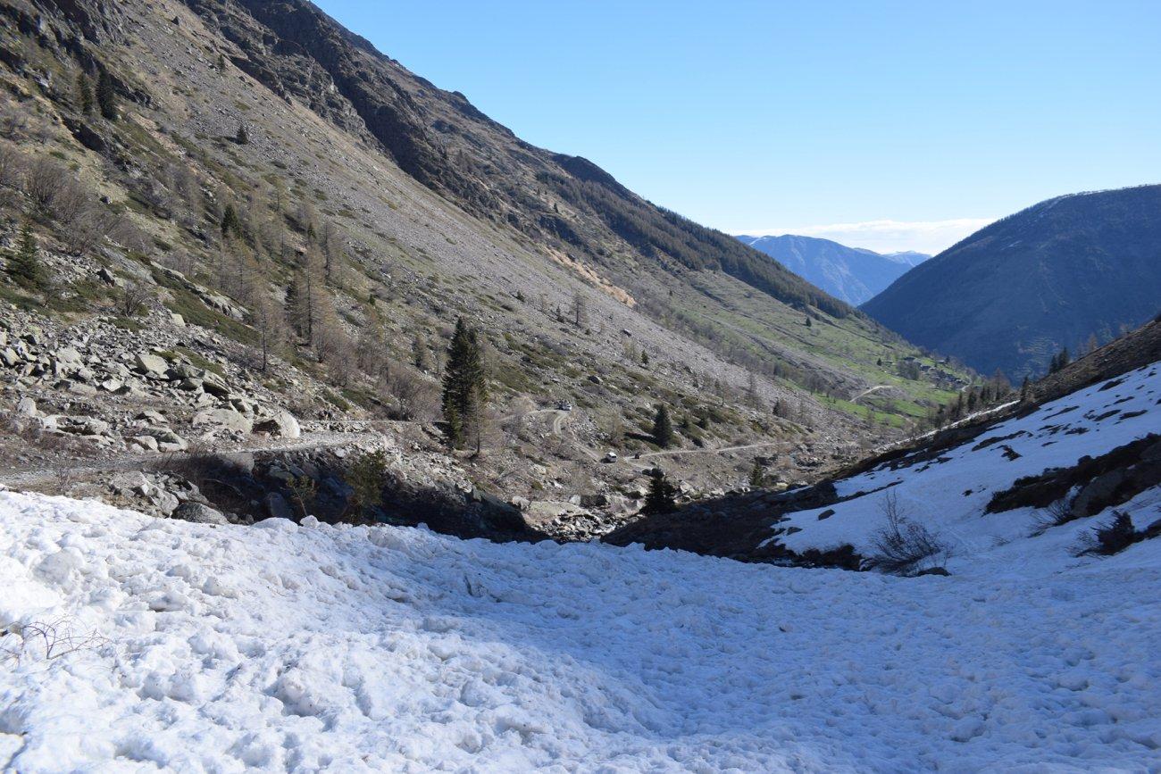 situazione innevamento del vallone di San Bernolfo