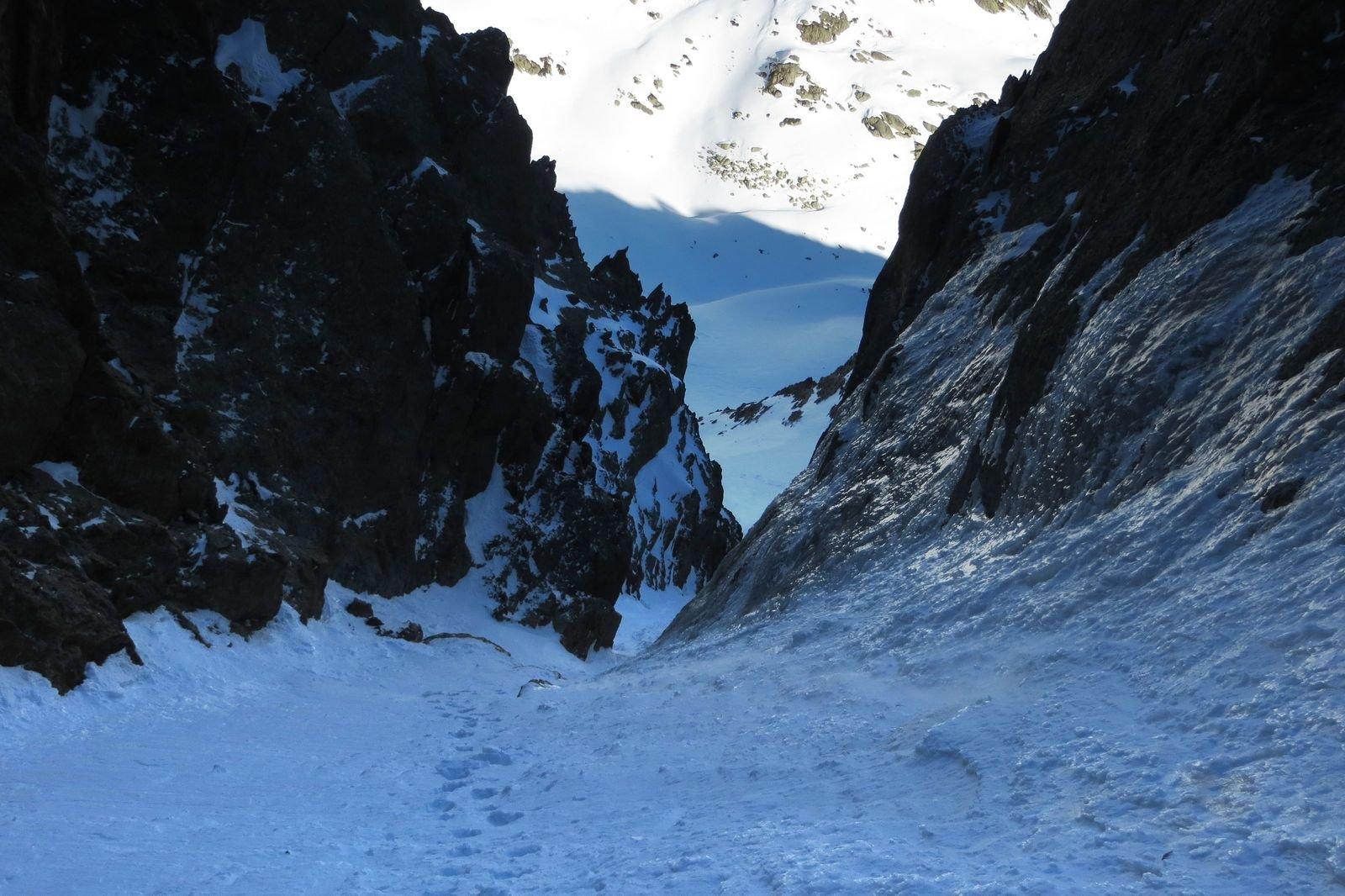 prima strettoia, con ghiaccio ai lati