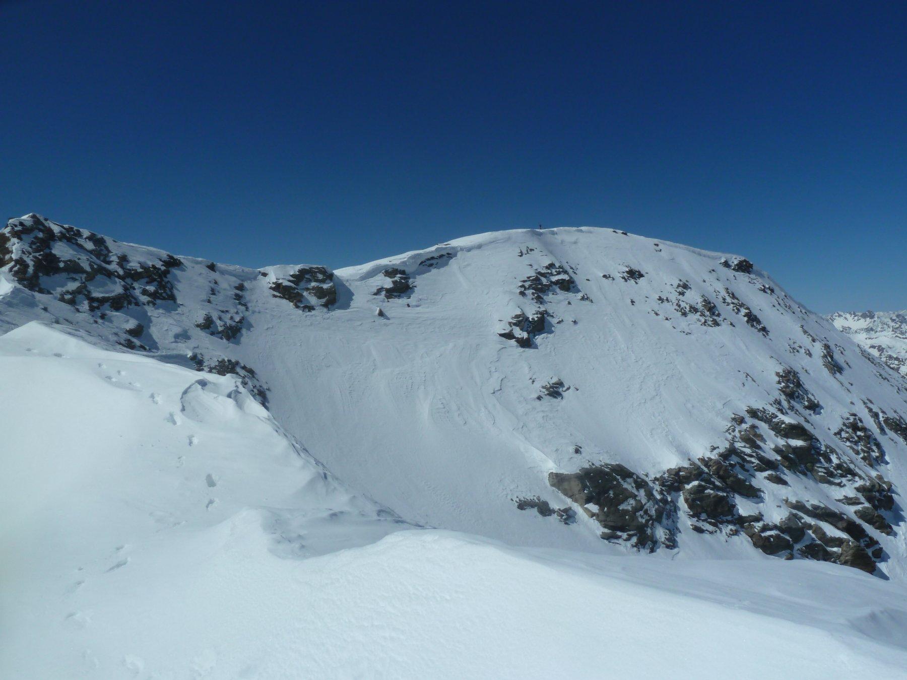 La cima Sud della Roisetta vista  dalla cresta verso la Nord
