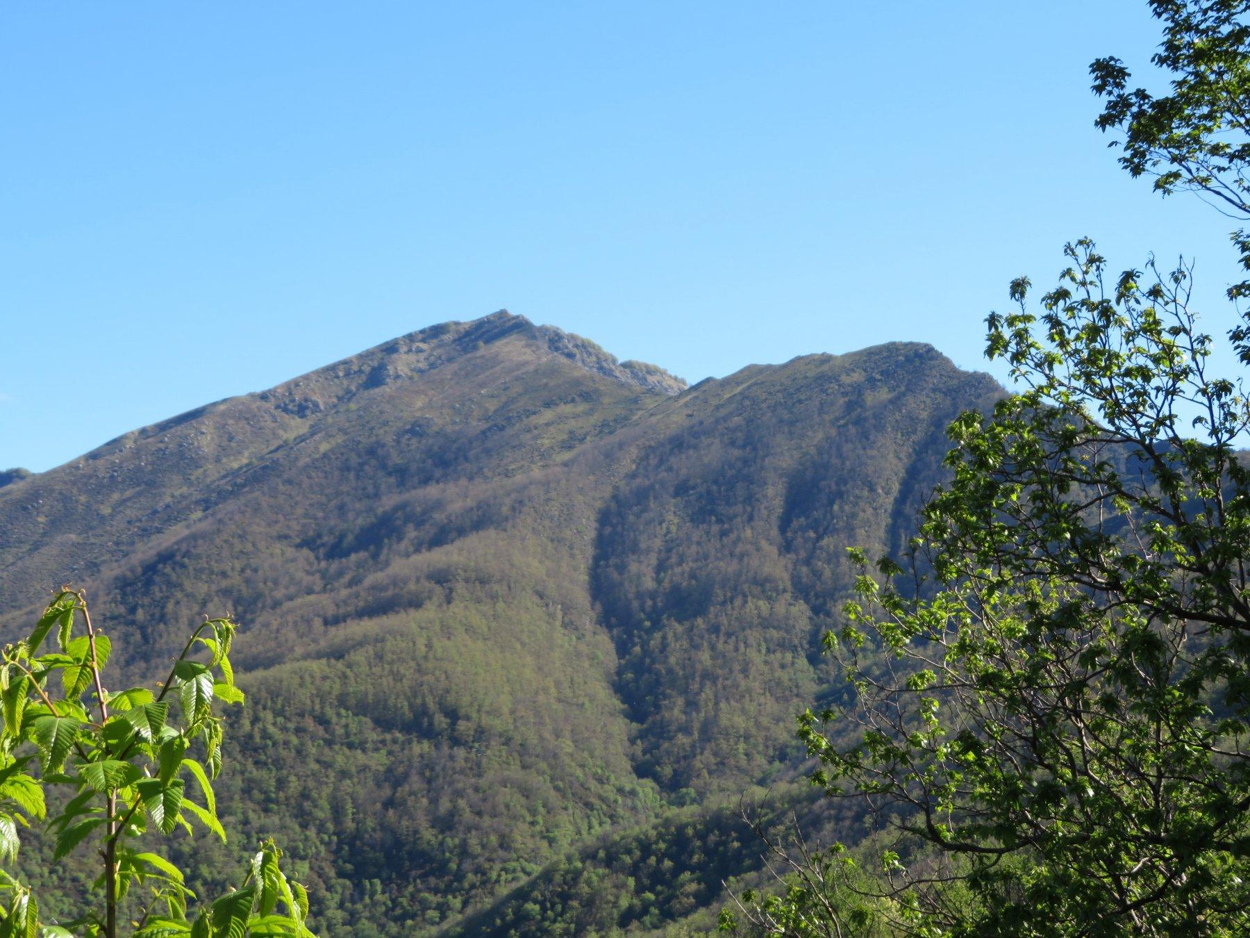 Il Monte Ramaceto e il suo Dente, salendo verso il Passo del Dente