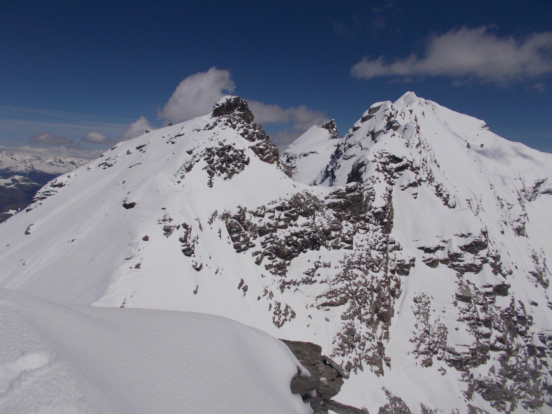 Barmaverain e Grande Rousse dalla cima di Fos..