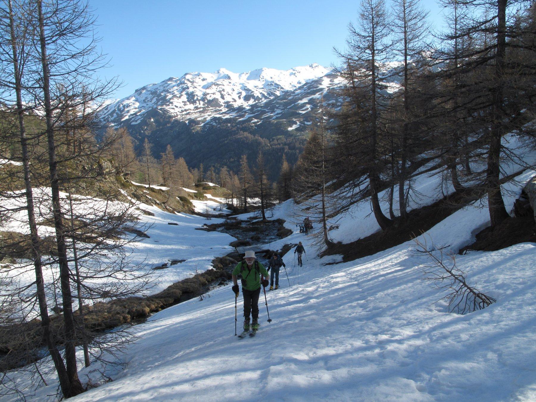 Sulla neve nel vallone di Raisin