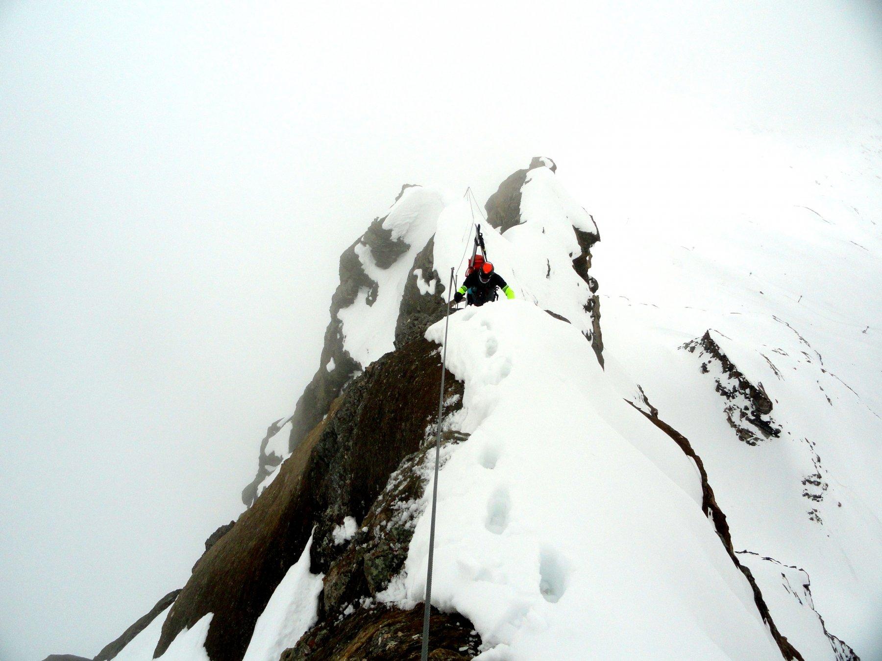Furggen (Cima di) o Tete de la Forclaz Traversata della Cresta da Plateau Rosa 2019-05-27