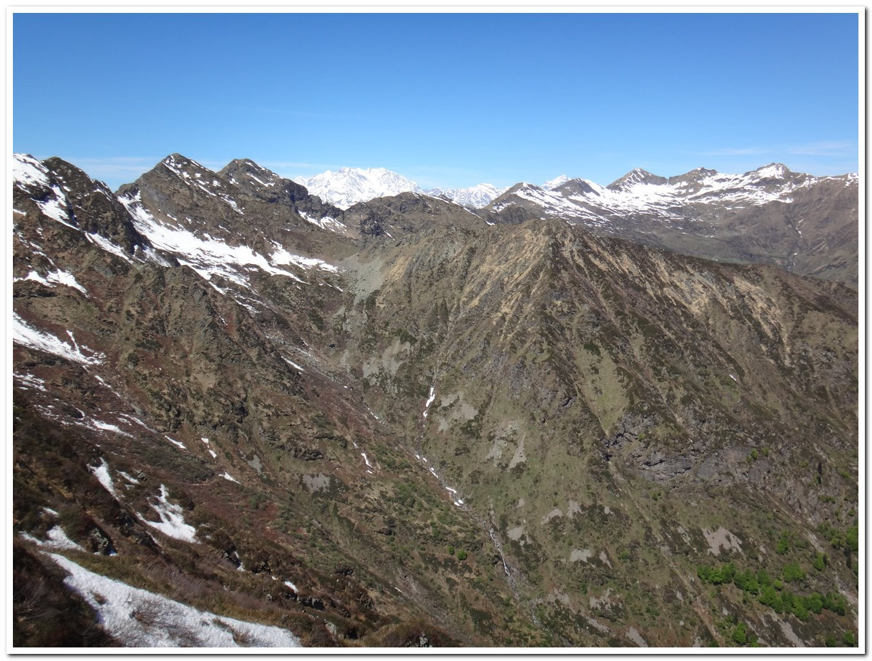 Il monte Rosa dalla cresta di salita