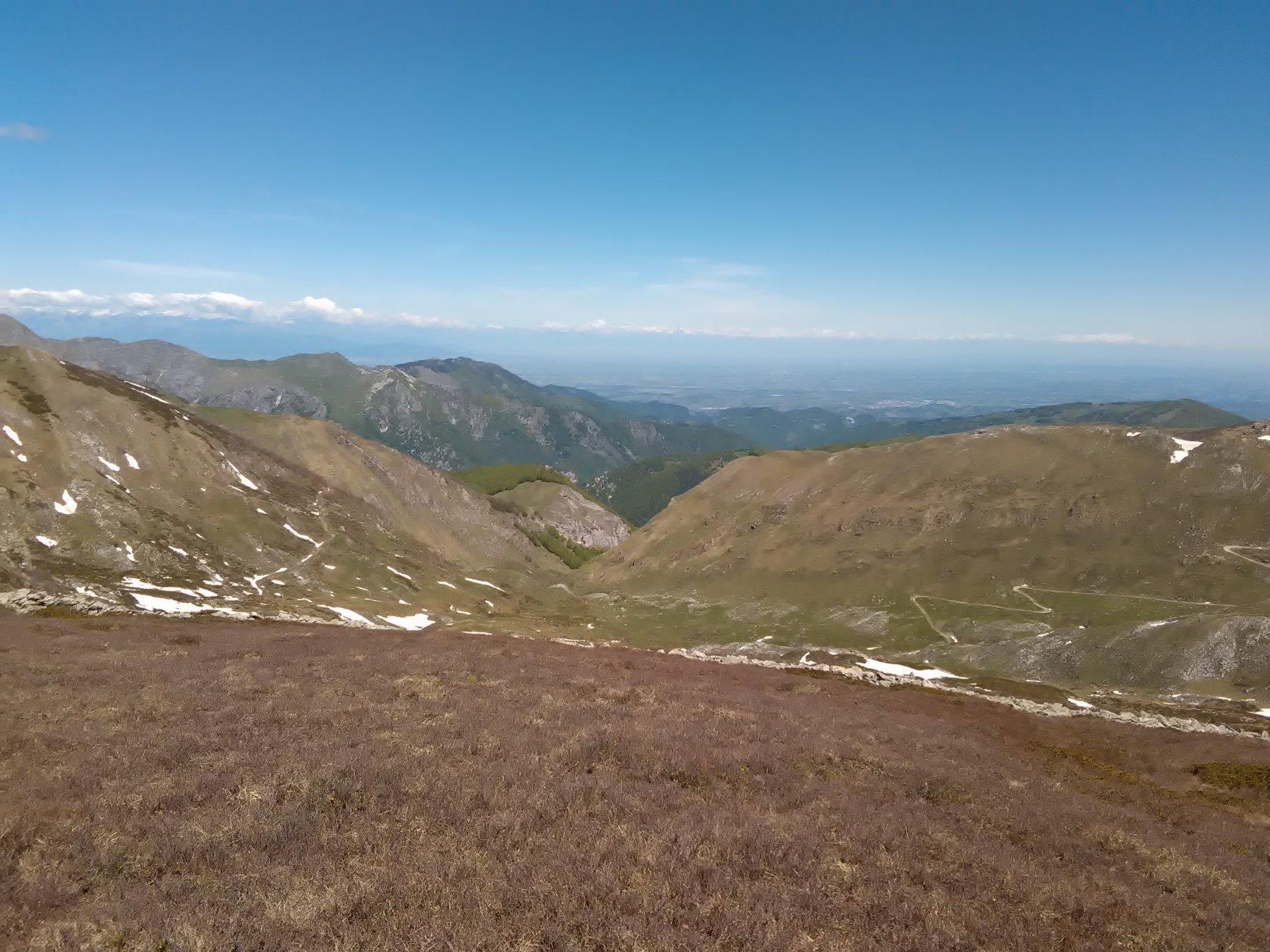 Dalla cima il vallone di salita