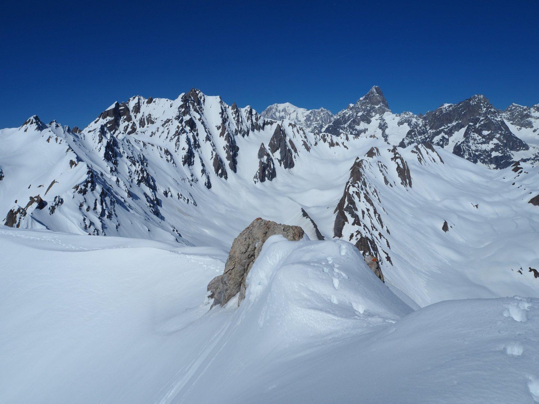 Panorama verso il Monte Bianco e le Jorasses