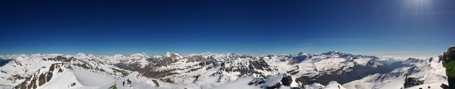 Panoramica WNW dalla cima
