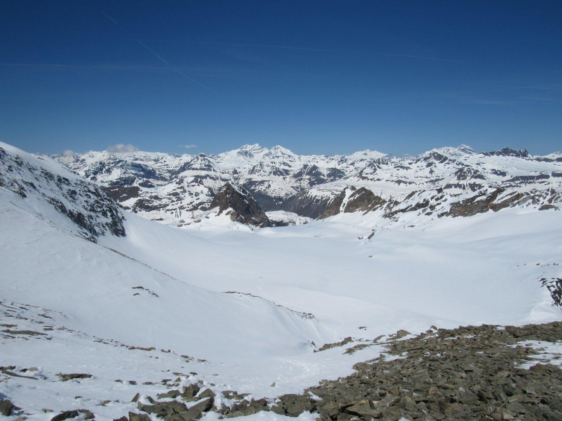 Parte alta della salita vista dalla cima