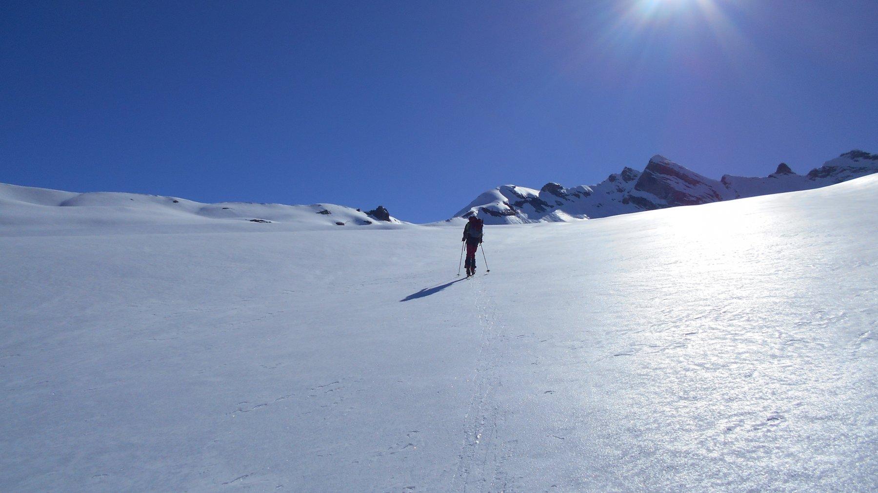 sul ghiacciaio del Mulinet