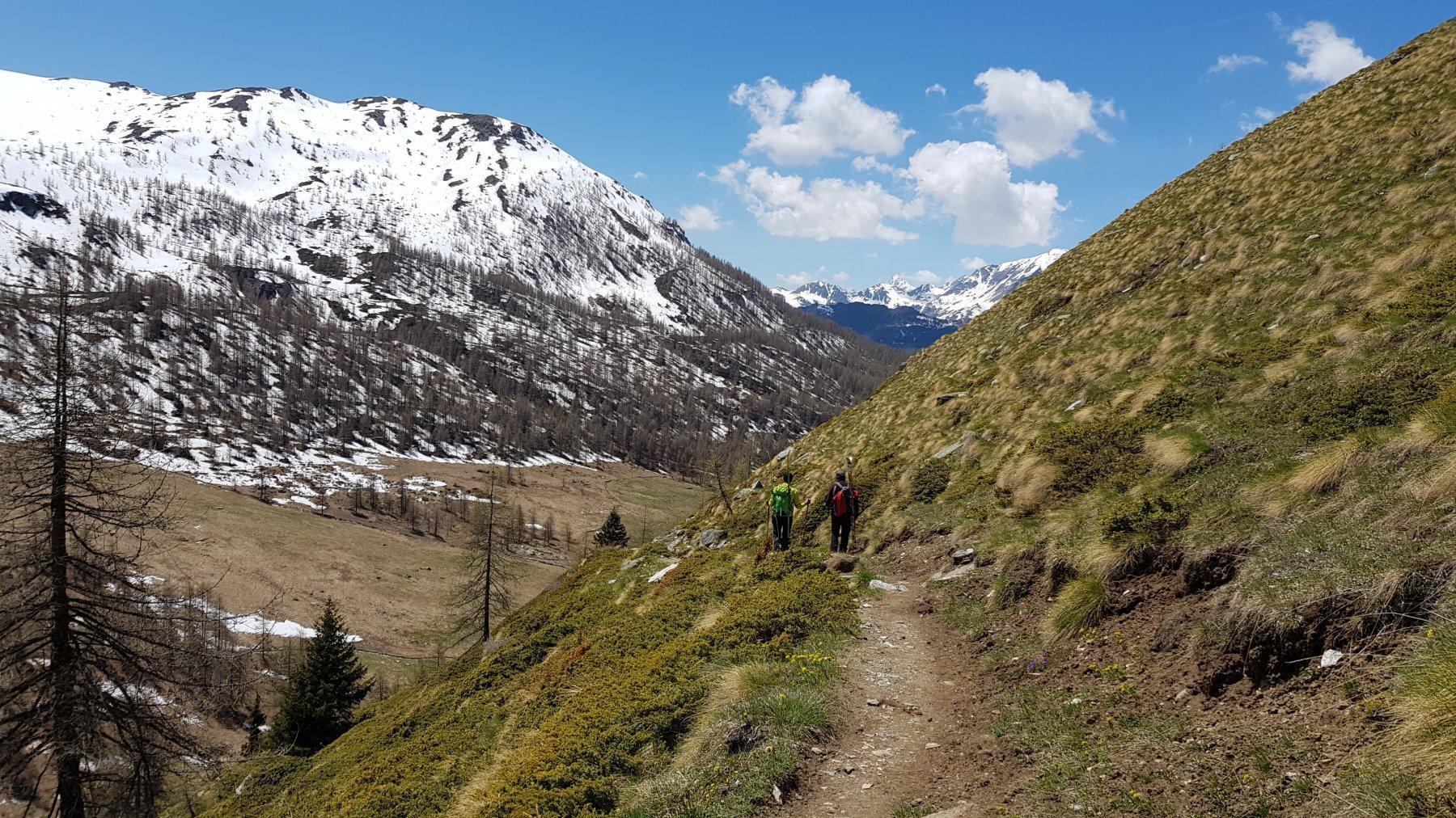 Sentiero di ritorno, sulla destra della valle