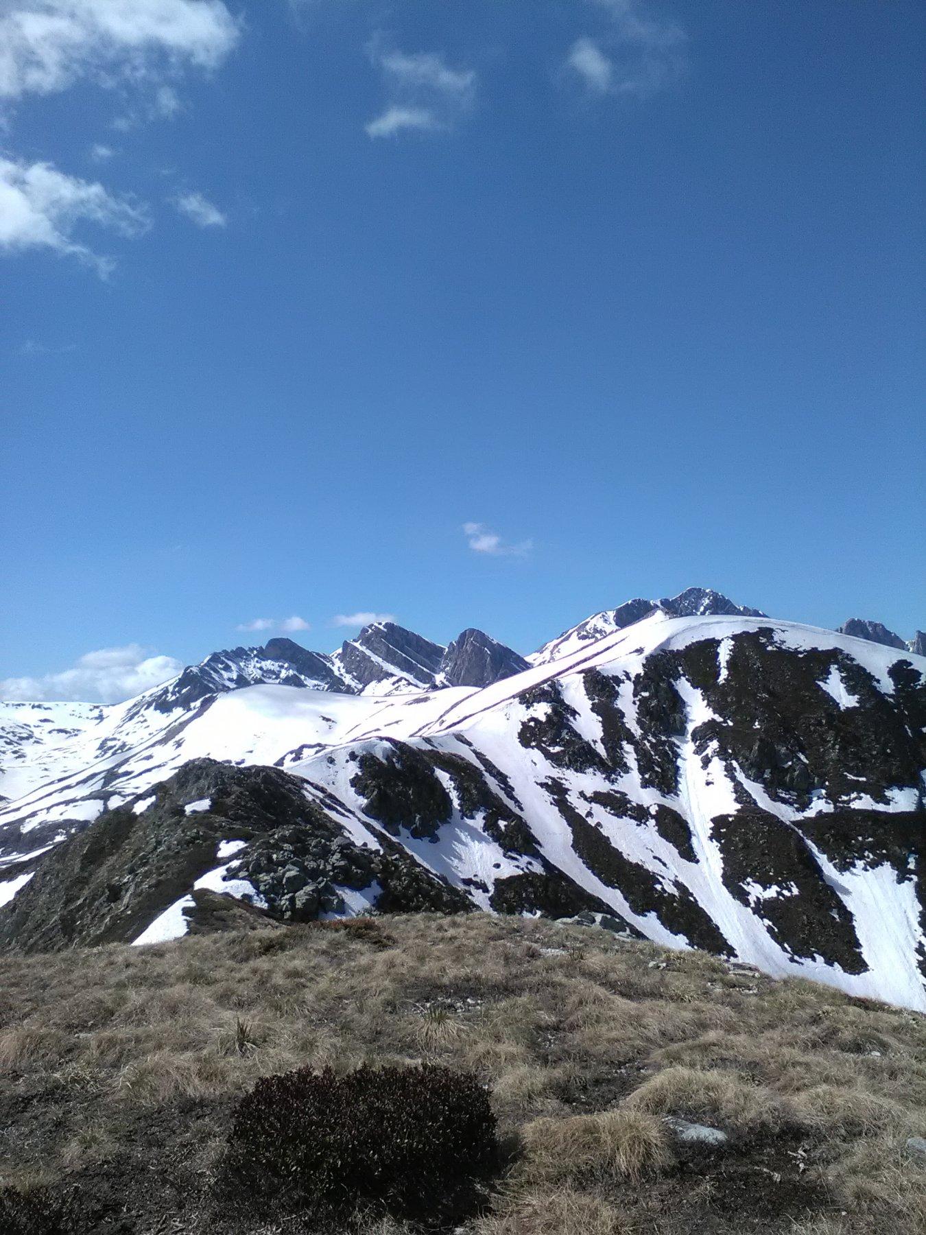 La cresta verso la San Lorenzo