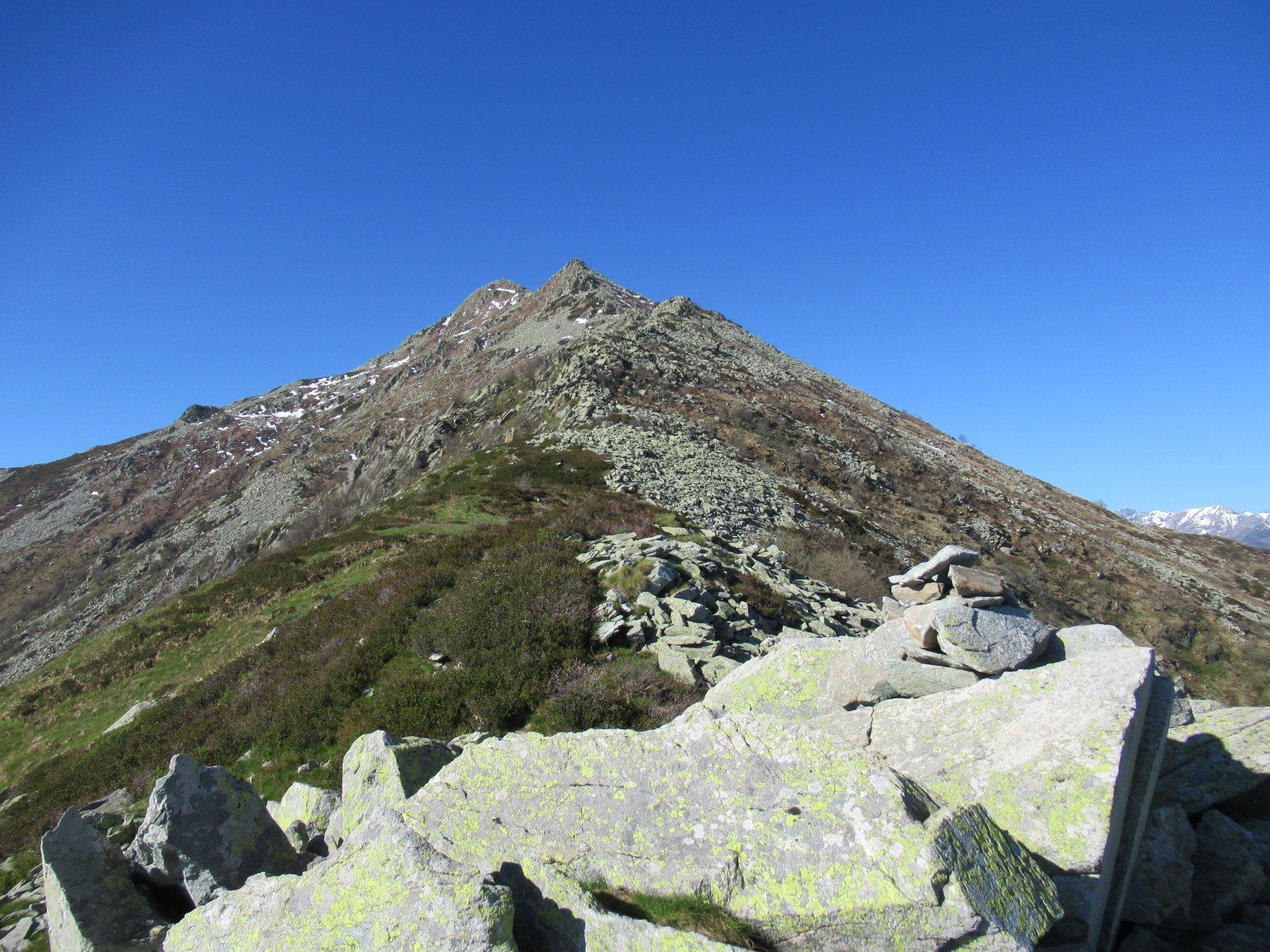 La Bisalta dalla cresta nord.