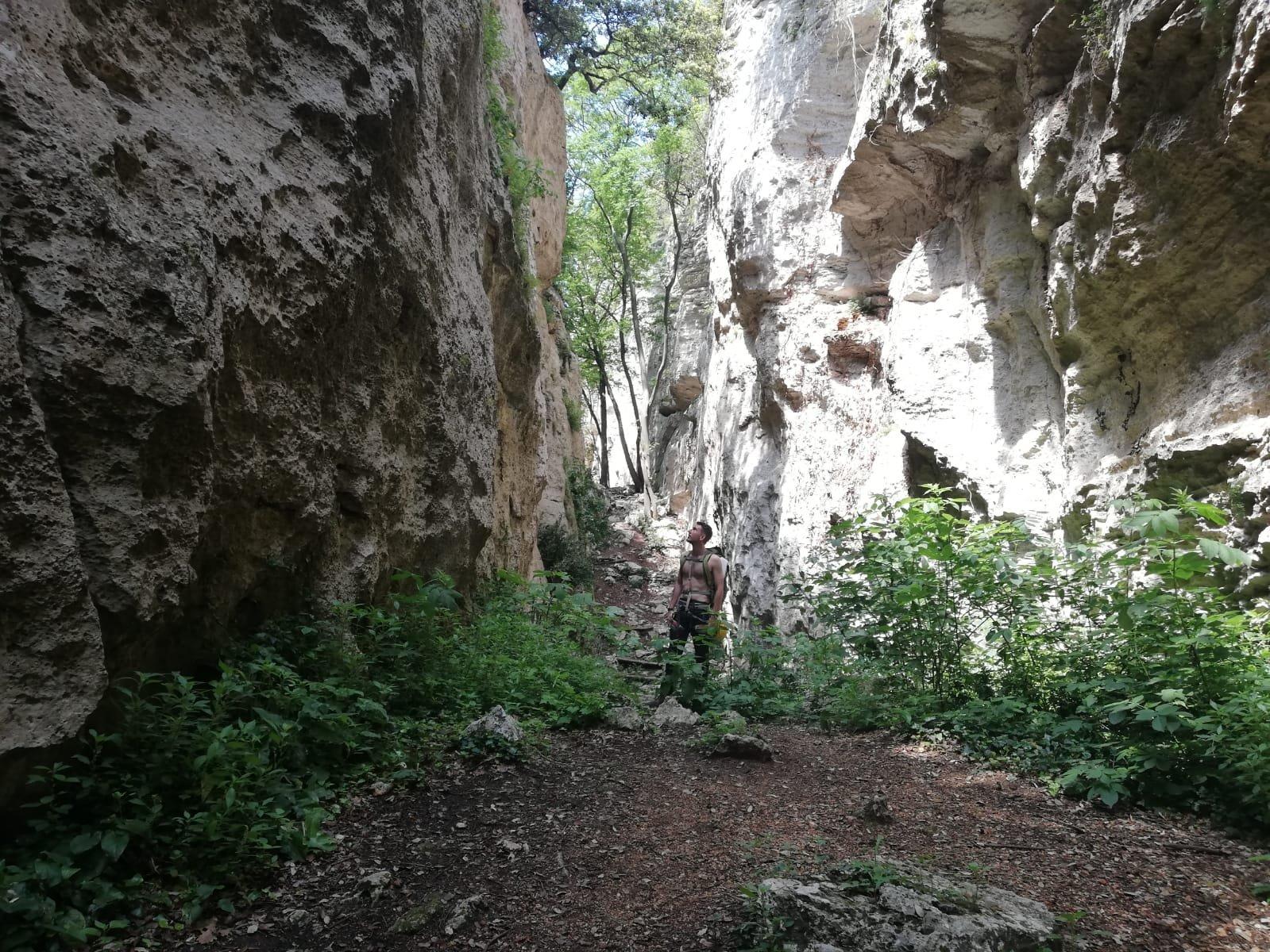 Ritorno attraverso il canyon