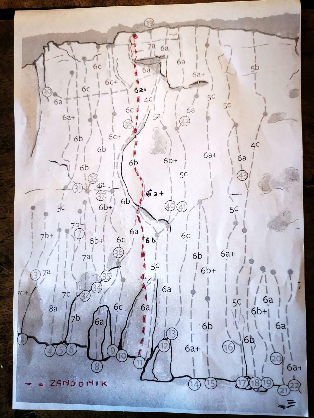 Il tracciato della via.