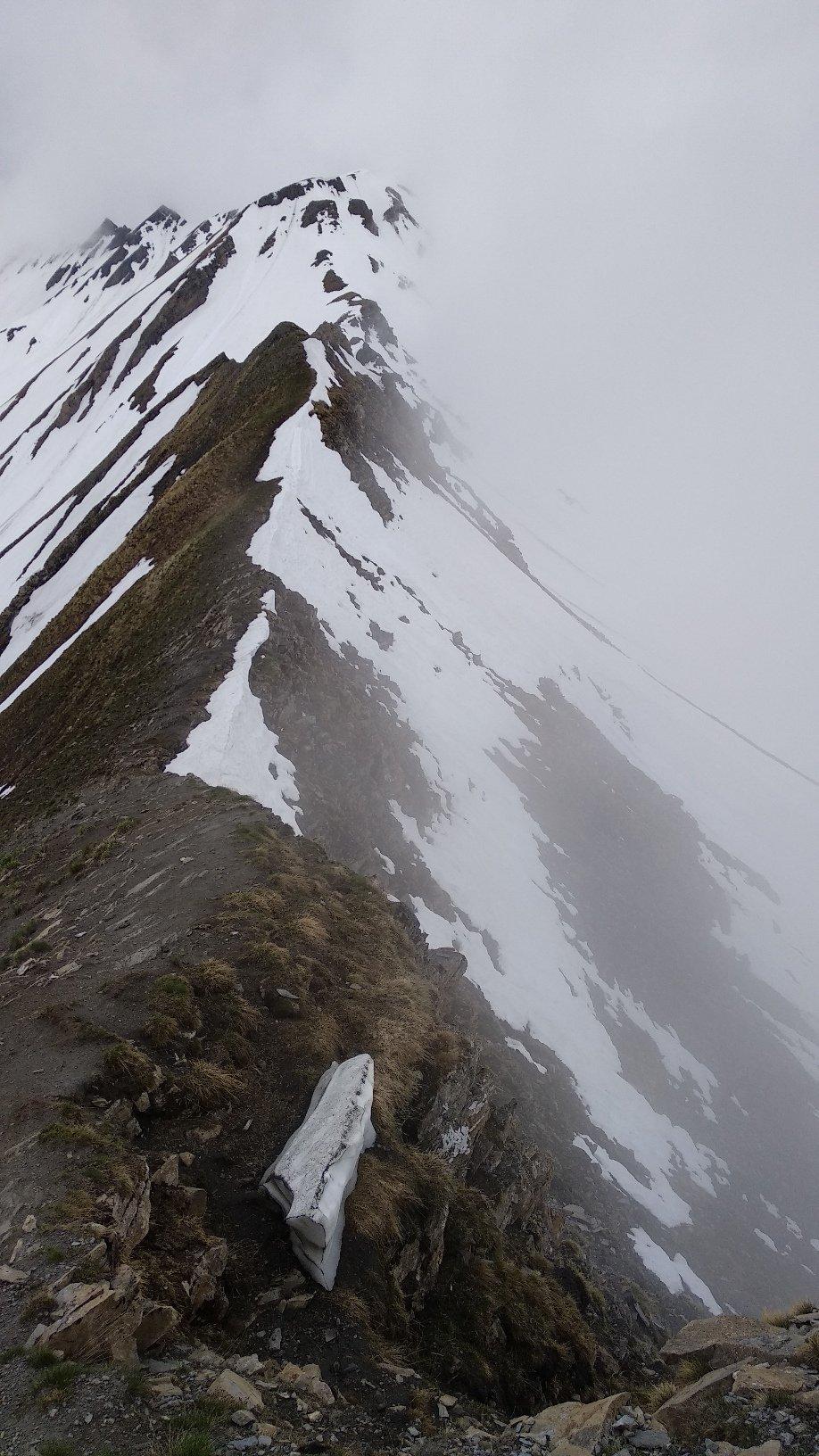 la cresta che collega con la Chéarfière