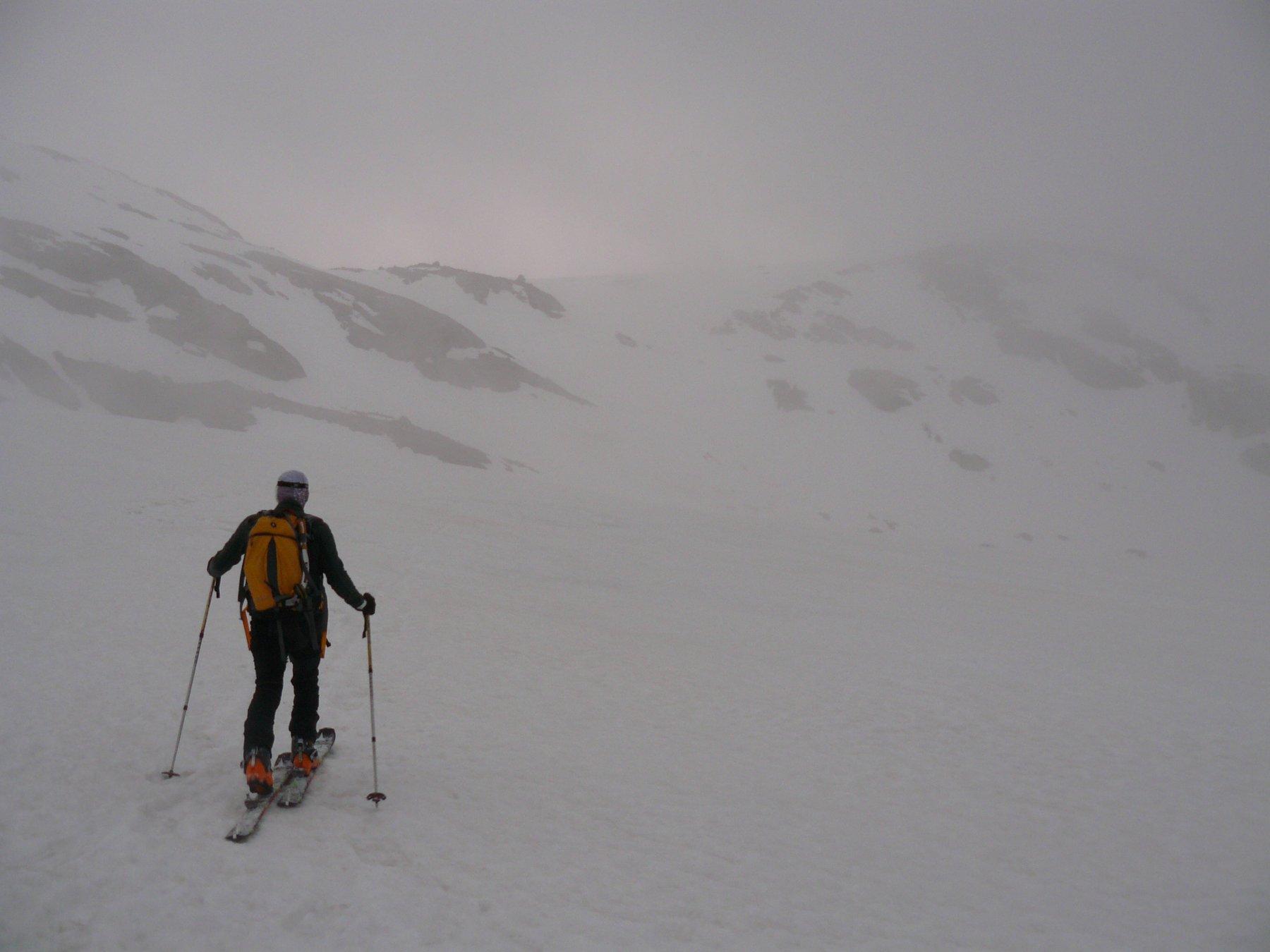 Plan des Evettes: 2 ore  a vagare nella nebbia, con il GPS..