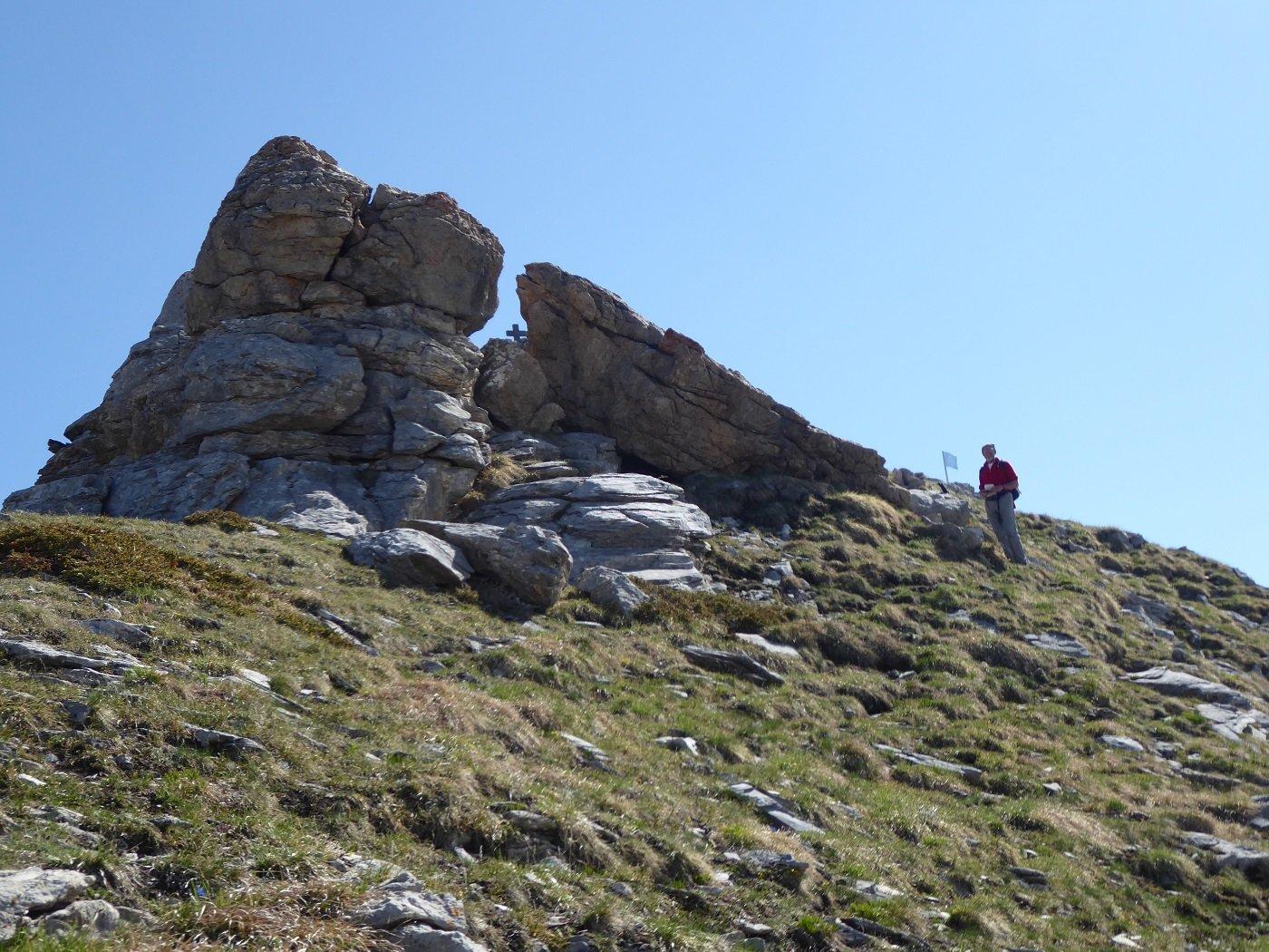Arrivo in vetta a Rocca Parvo.