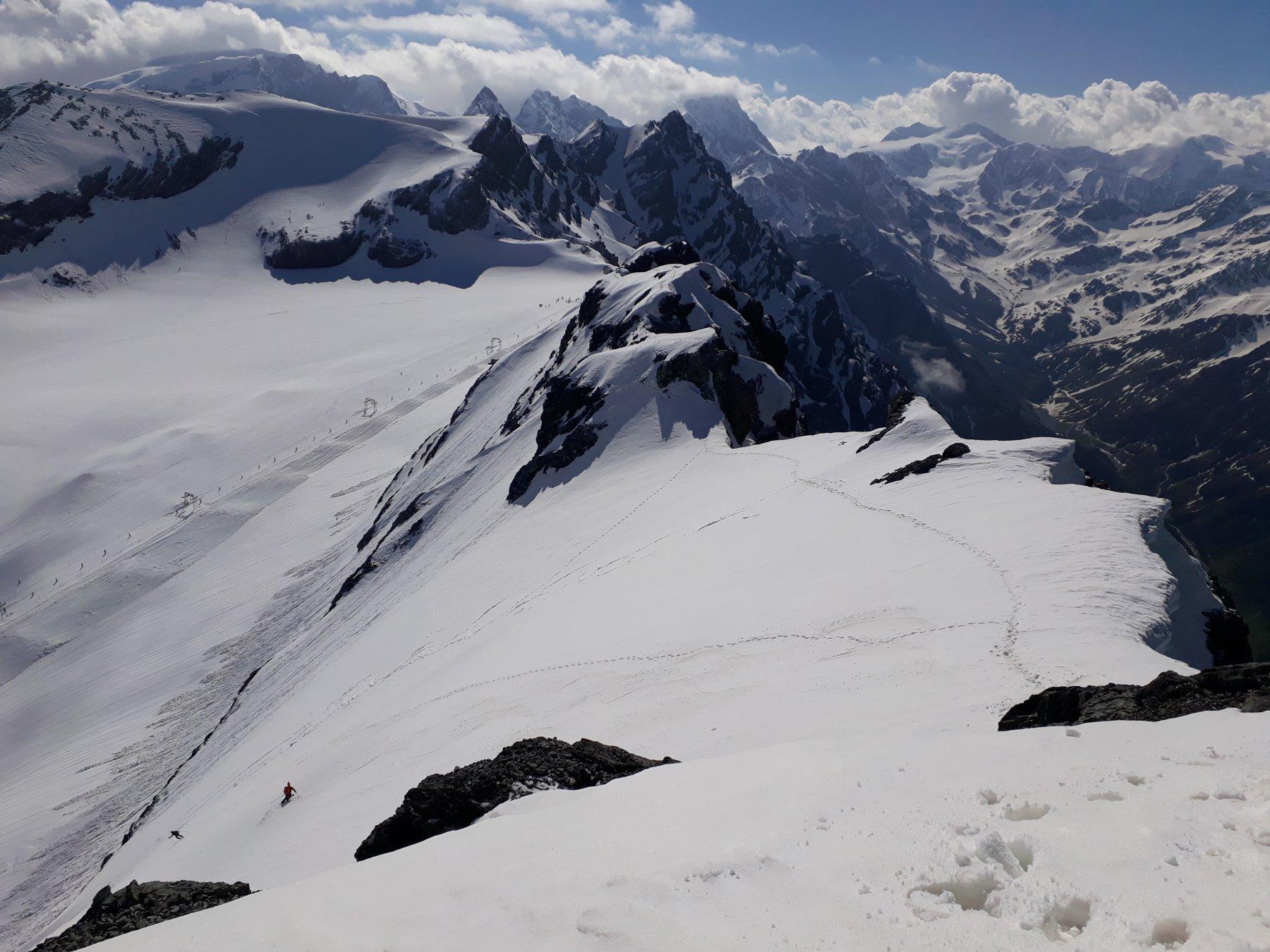 Monte Cristallo - Cresta Est e Parete Nord con due ragazzi impegnati in discesa