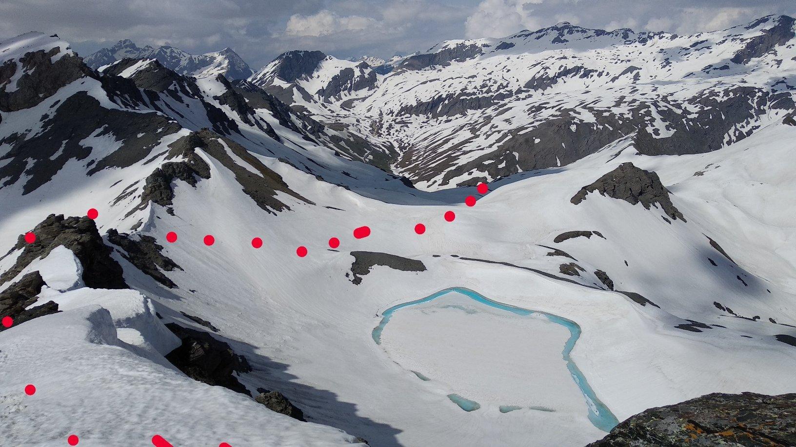 itinerario visto dalla cima