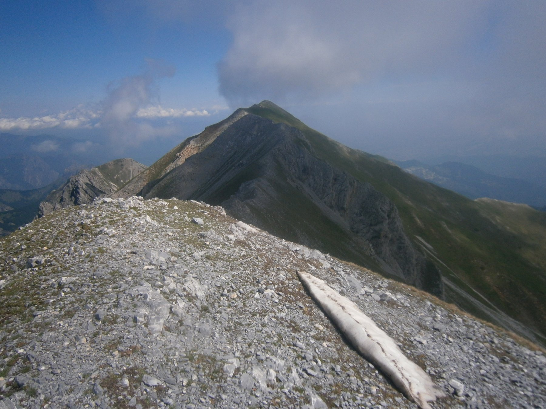 Dalla rocca d'Orel la cresta verso il Bussaia