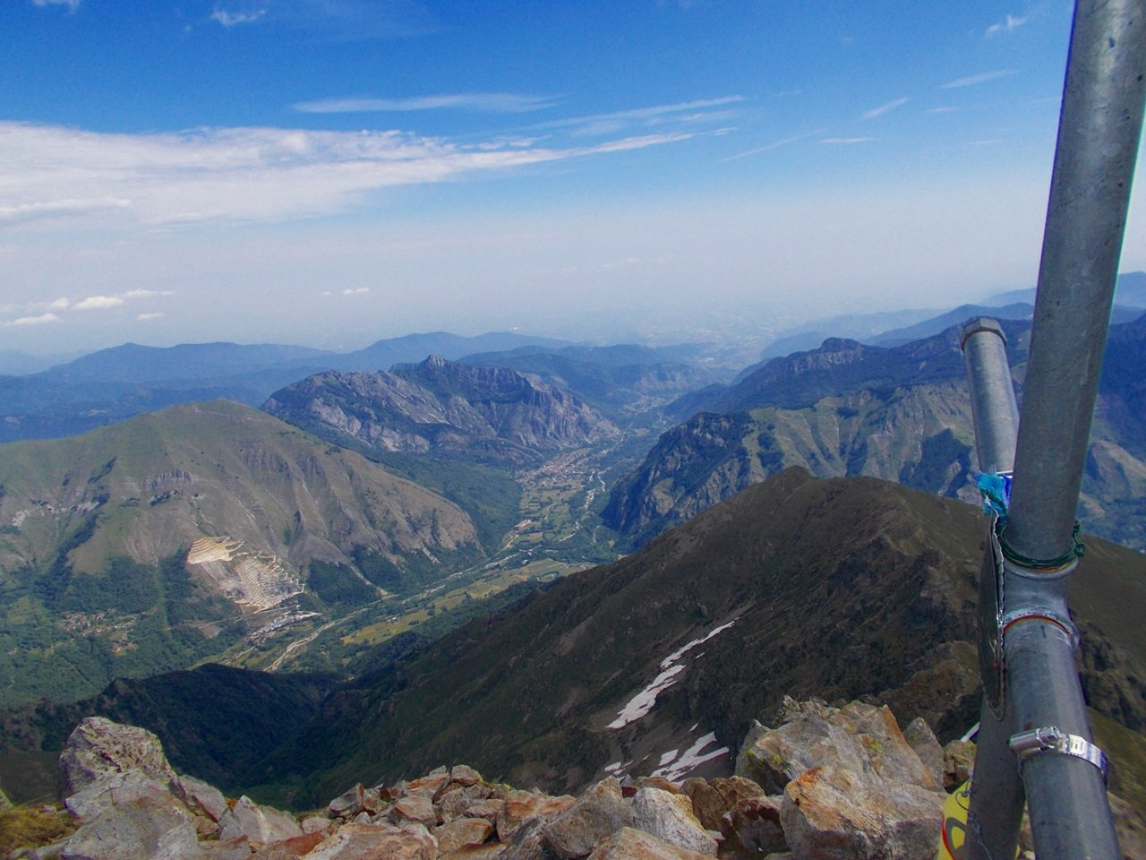 dalla cima ,vista su Valdieri