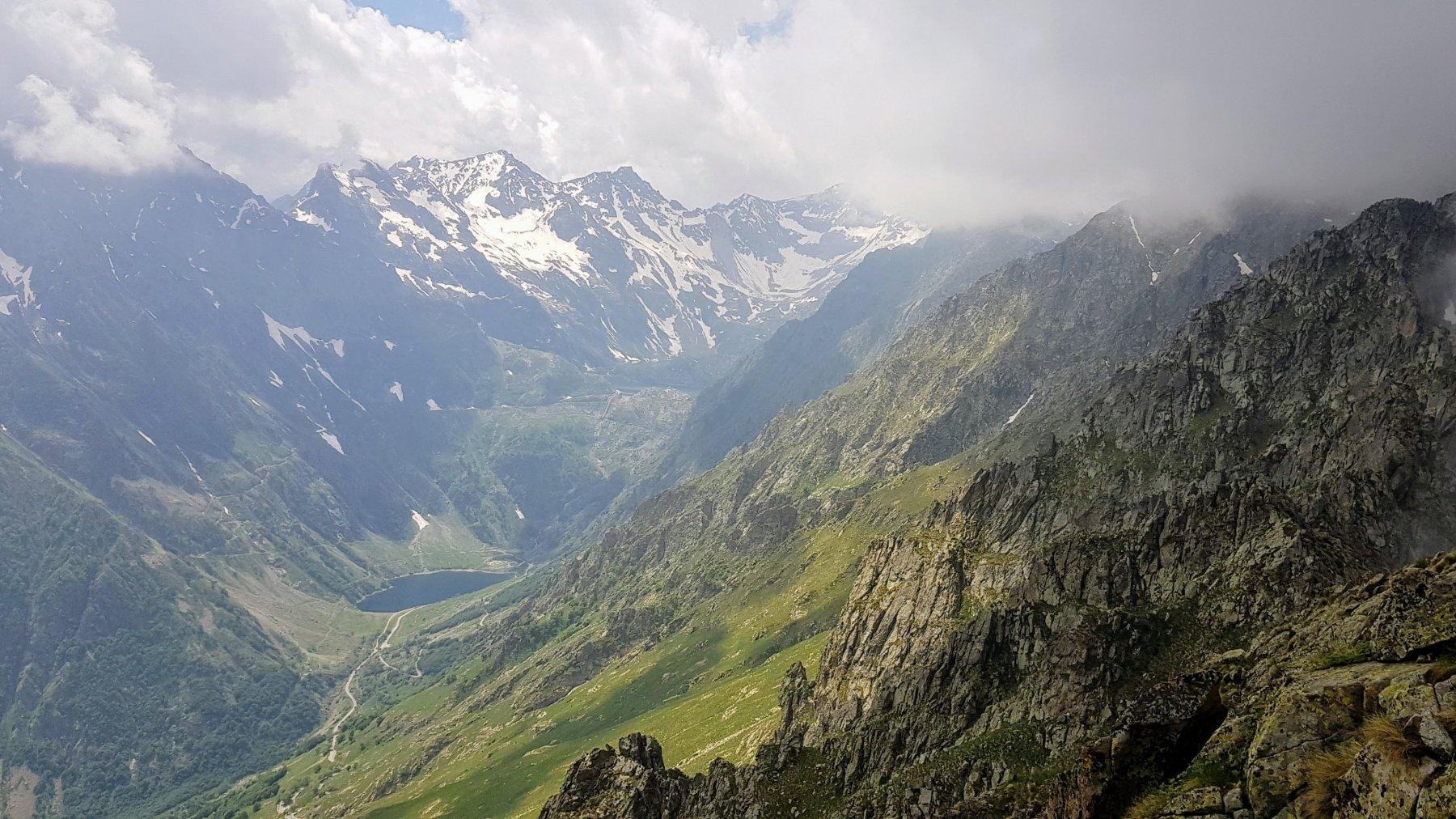 Il vallone della Rovina nel vallone opposto