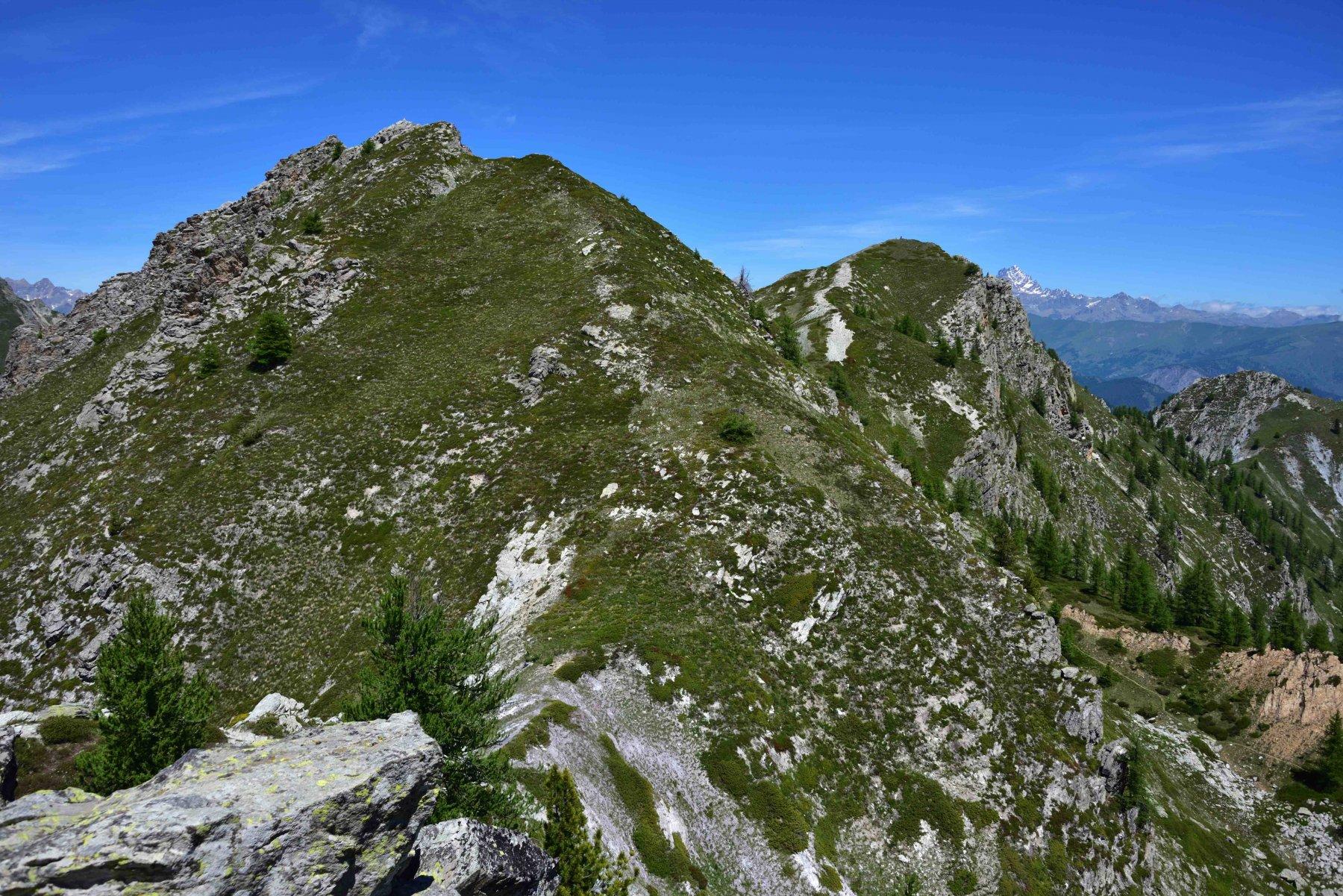 La cresta di salita alla Q.2401 e il M.Bert
