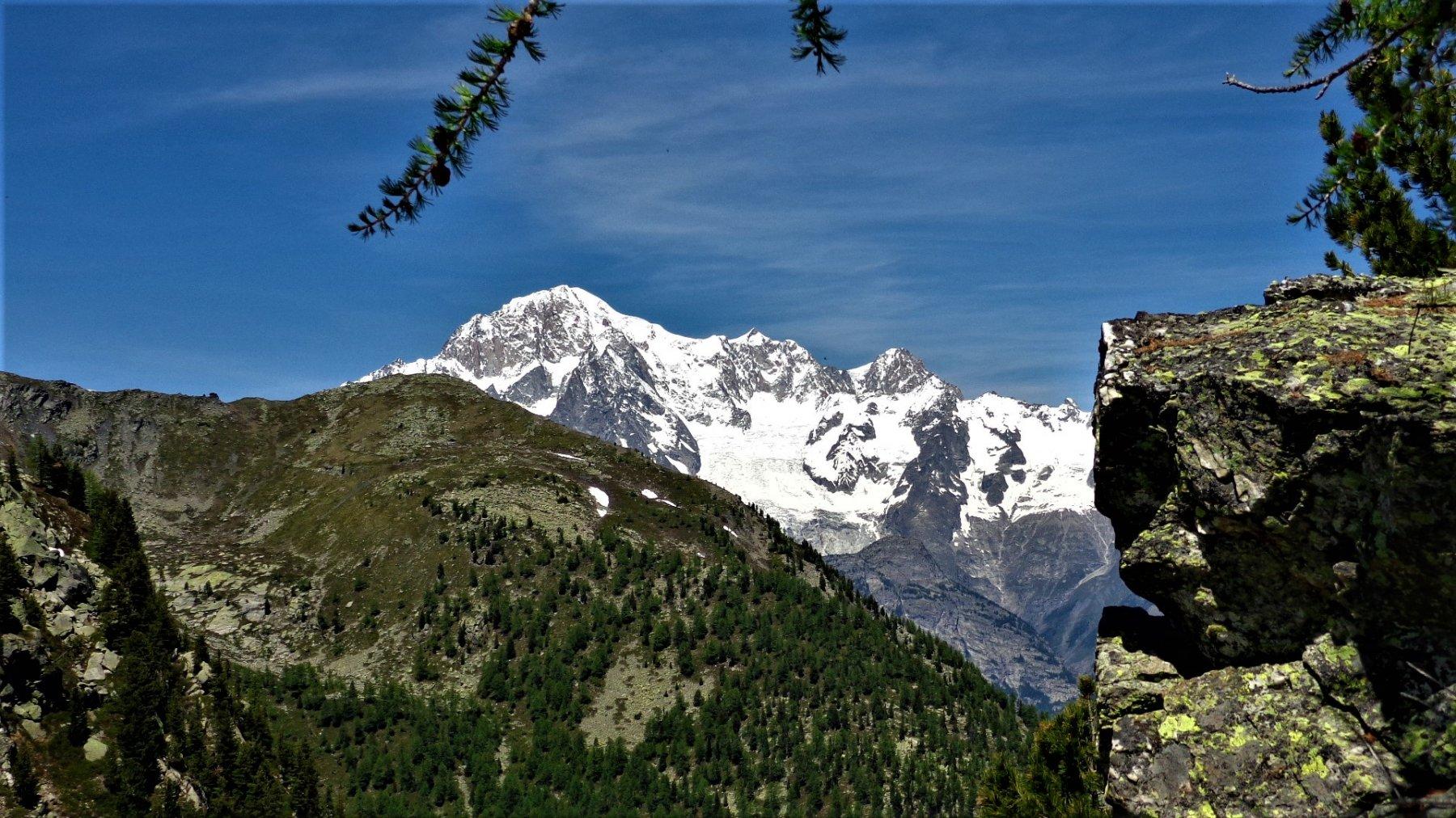 Verso il Monte Bianco dal Colletto