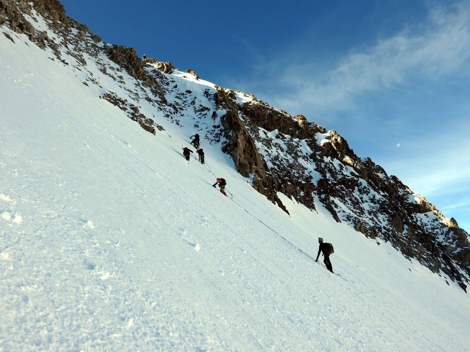 Pilatte (Pointes de la) Via Normale da La Berarde per il Glacier de la Pilatte 2019-06-23