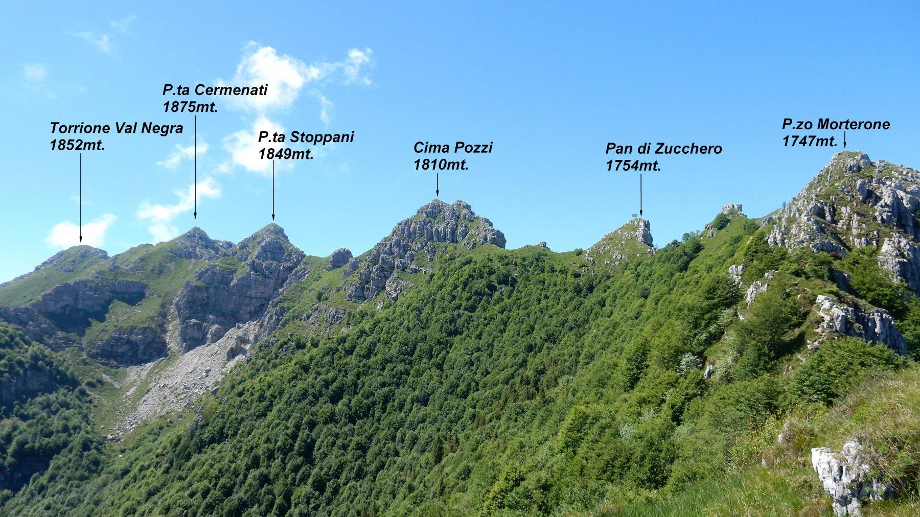 Resegone - Punta Cermenati da Brumano, traversata creste Sud-Nord 2019-06-23