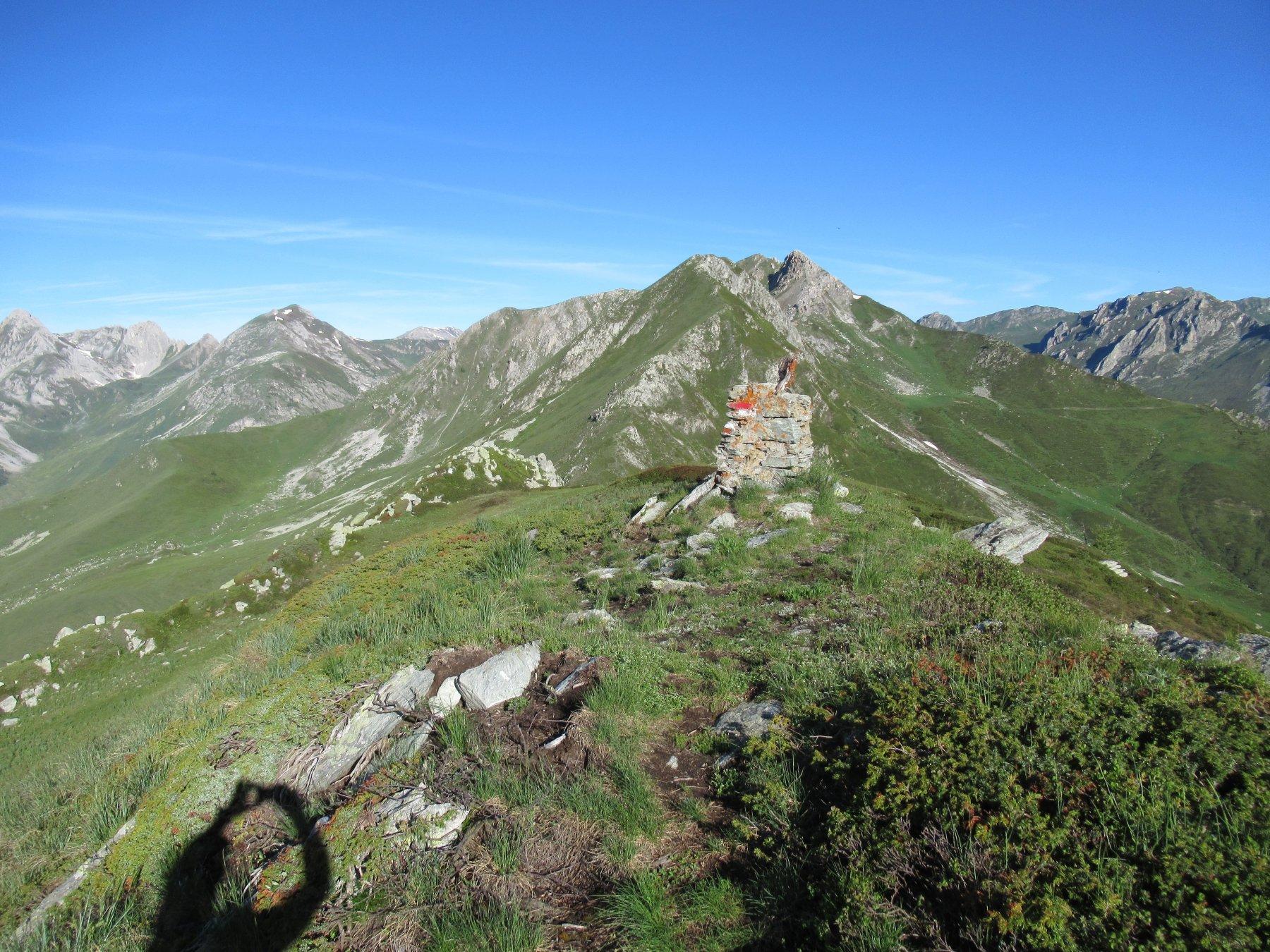 La cresta che percorriamo dalla spalla del Monte Borel