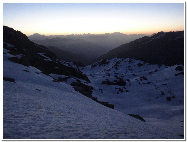 Alba verso il monte Rosa