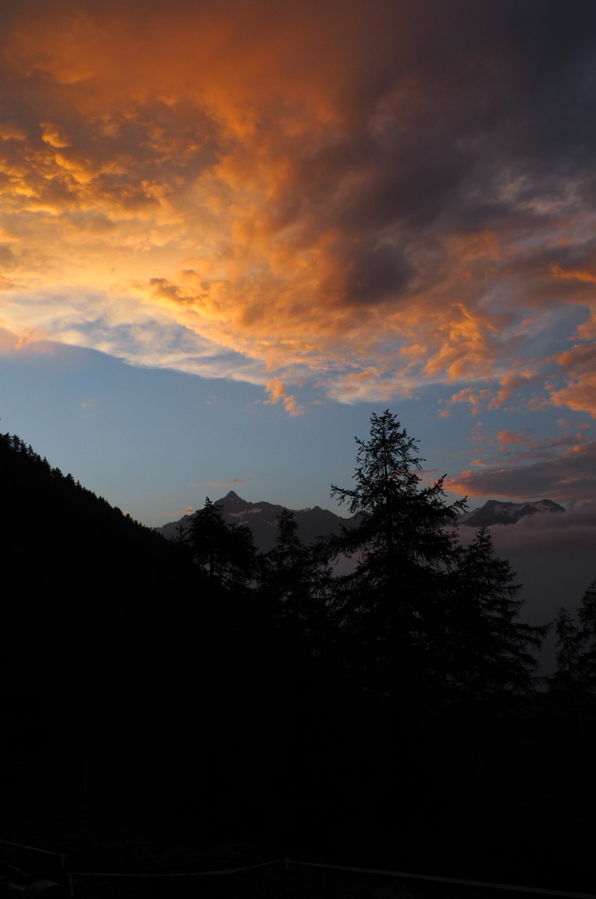 tramonto sul Rocciamelone dal Rifugio