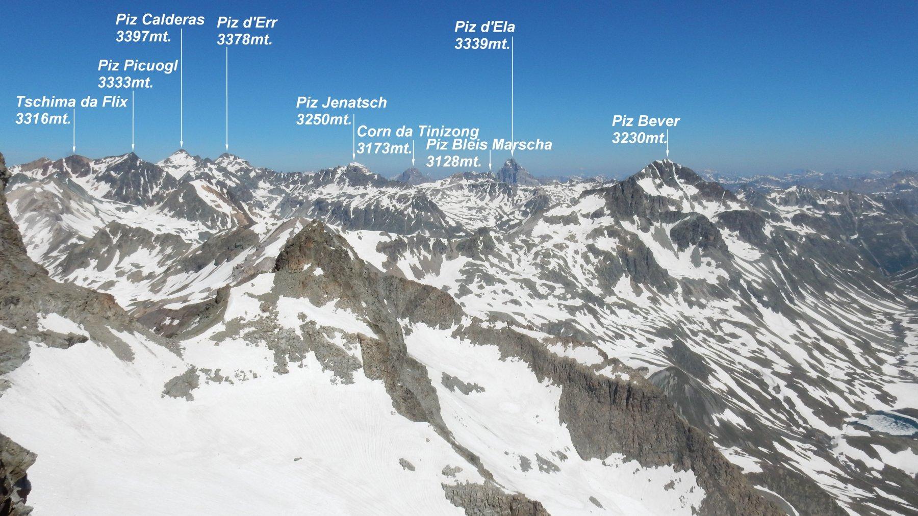Panorama dal Piz Julier.